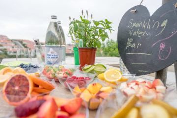 How to make a sparkling water bar for your next party.