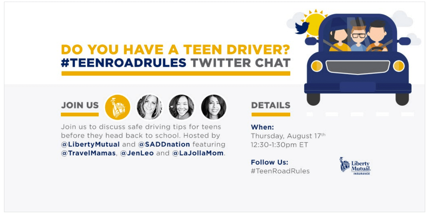 Join the teen driving party with Liberty Mutual.