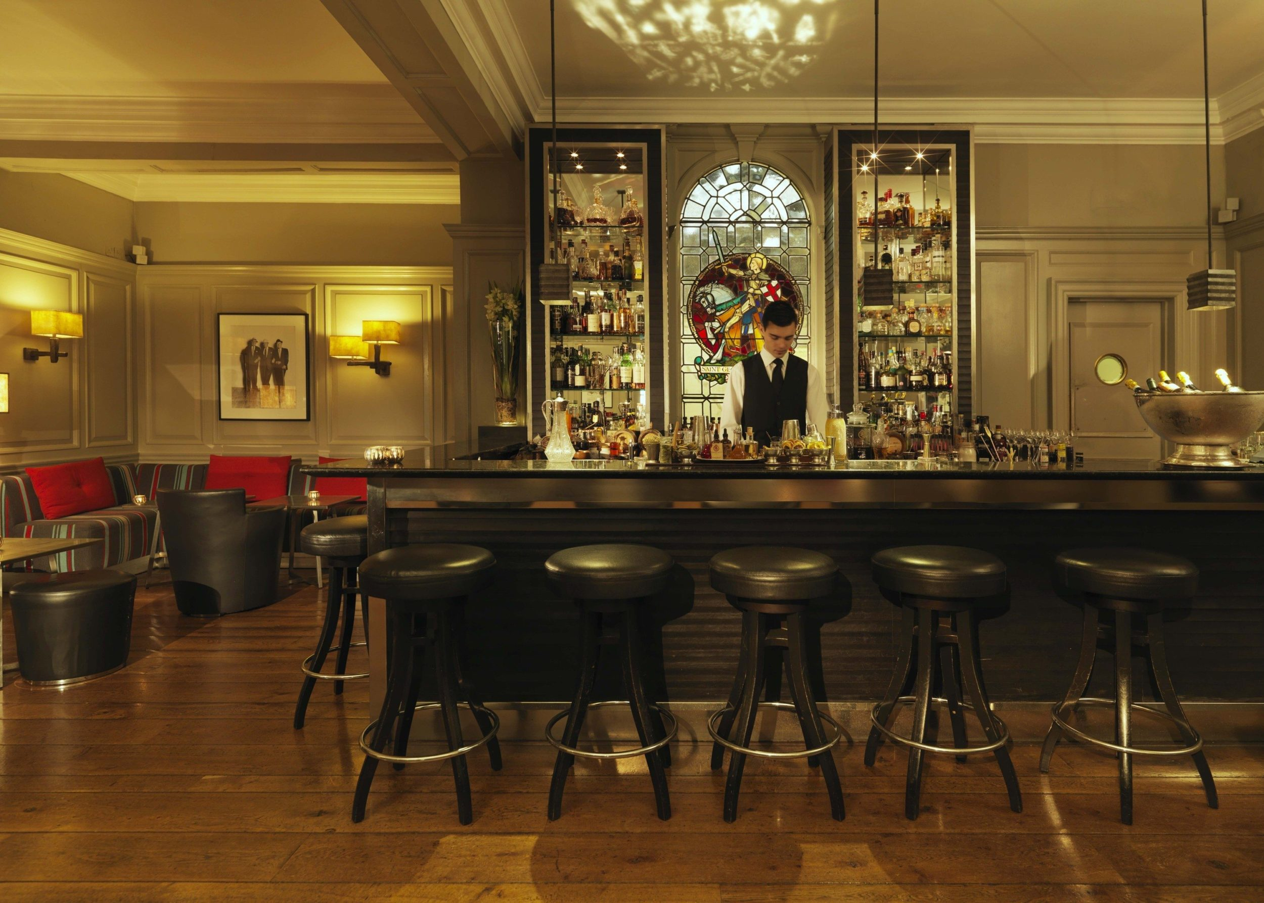 One must have a drink at The Donovan Bar at Brown's Hotel in London.