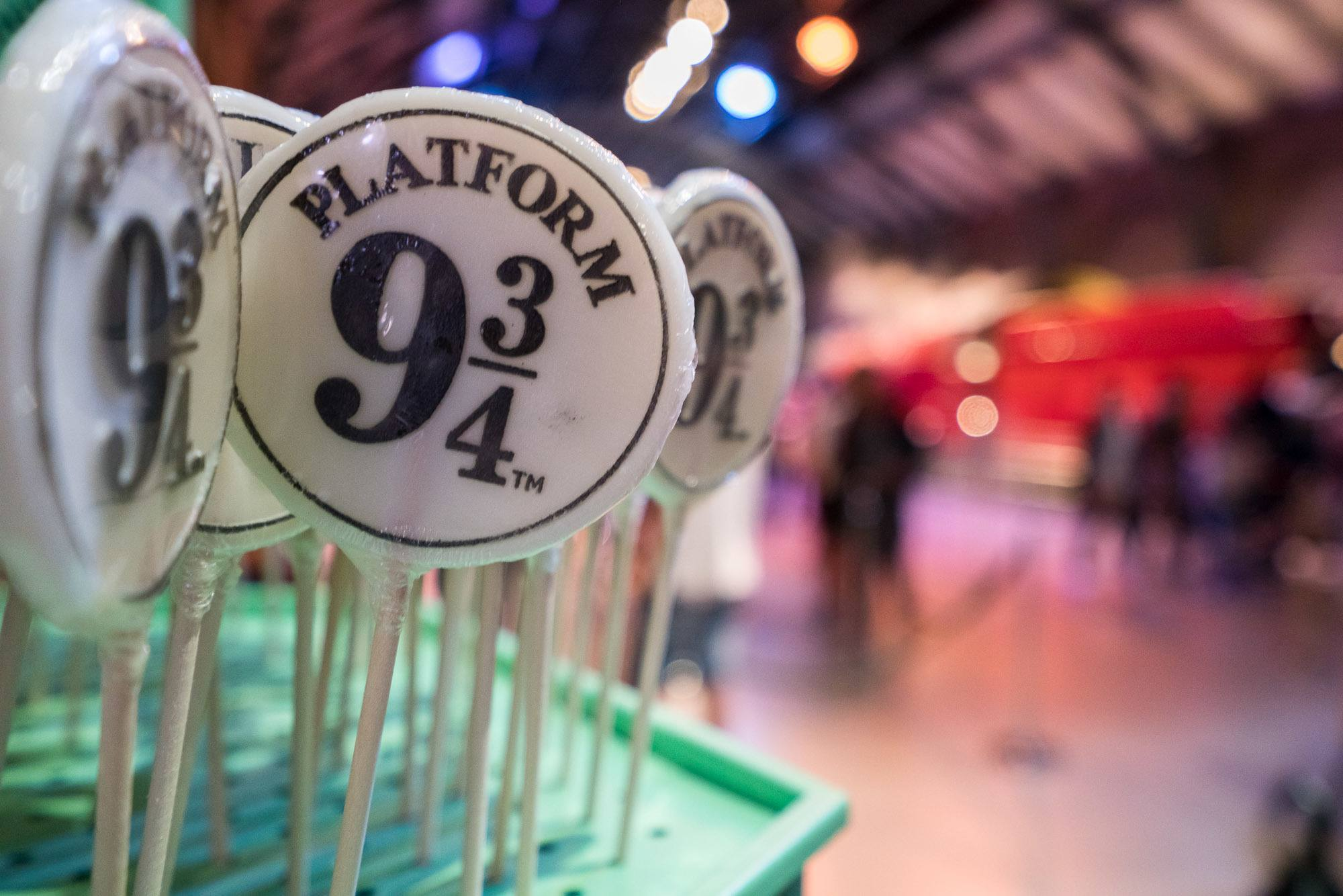 Platform 9 3/4 candy at Warner Bros. Studio London Tour