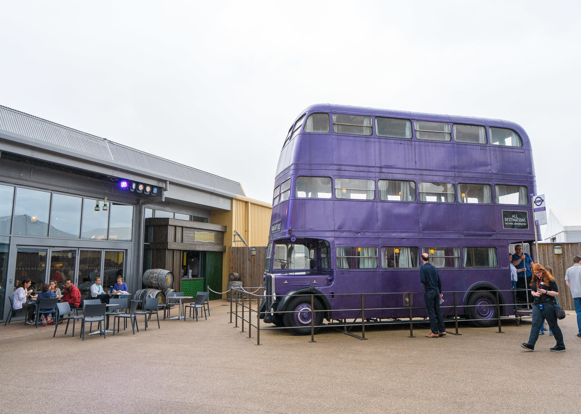 The Night Bus from the Harry Potter movies at the Warner Bros. Studio Tour London.