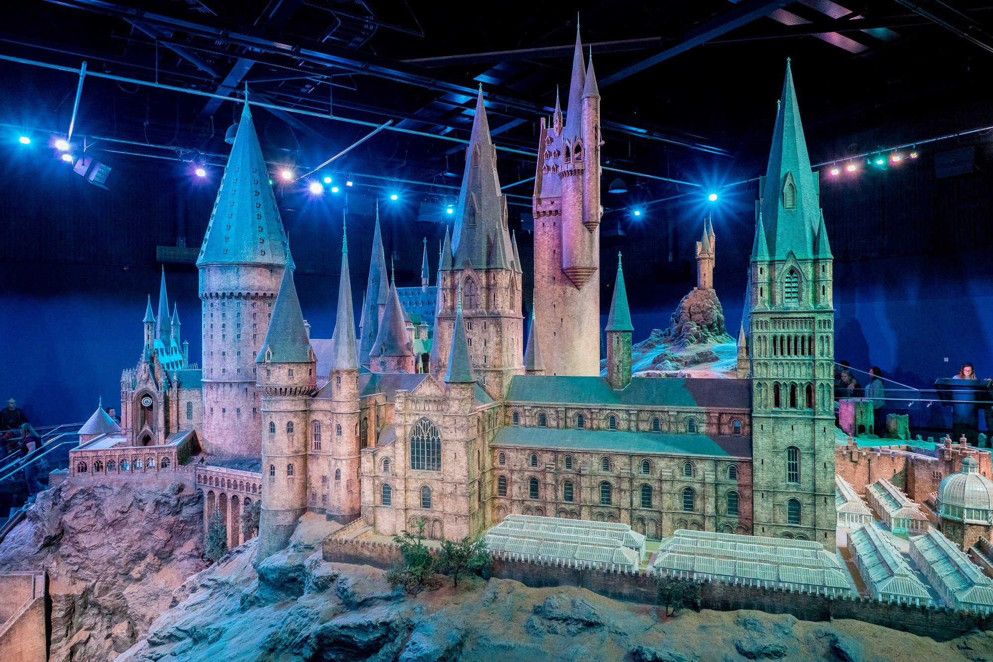A model of Hogwarts ends the tour at Warner Bros. Studio Tour London.