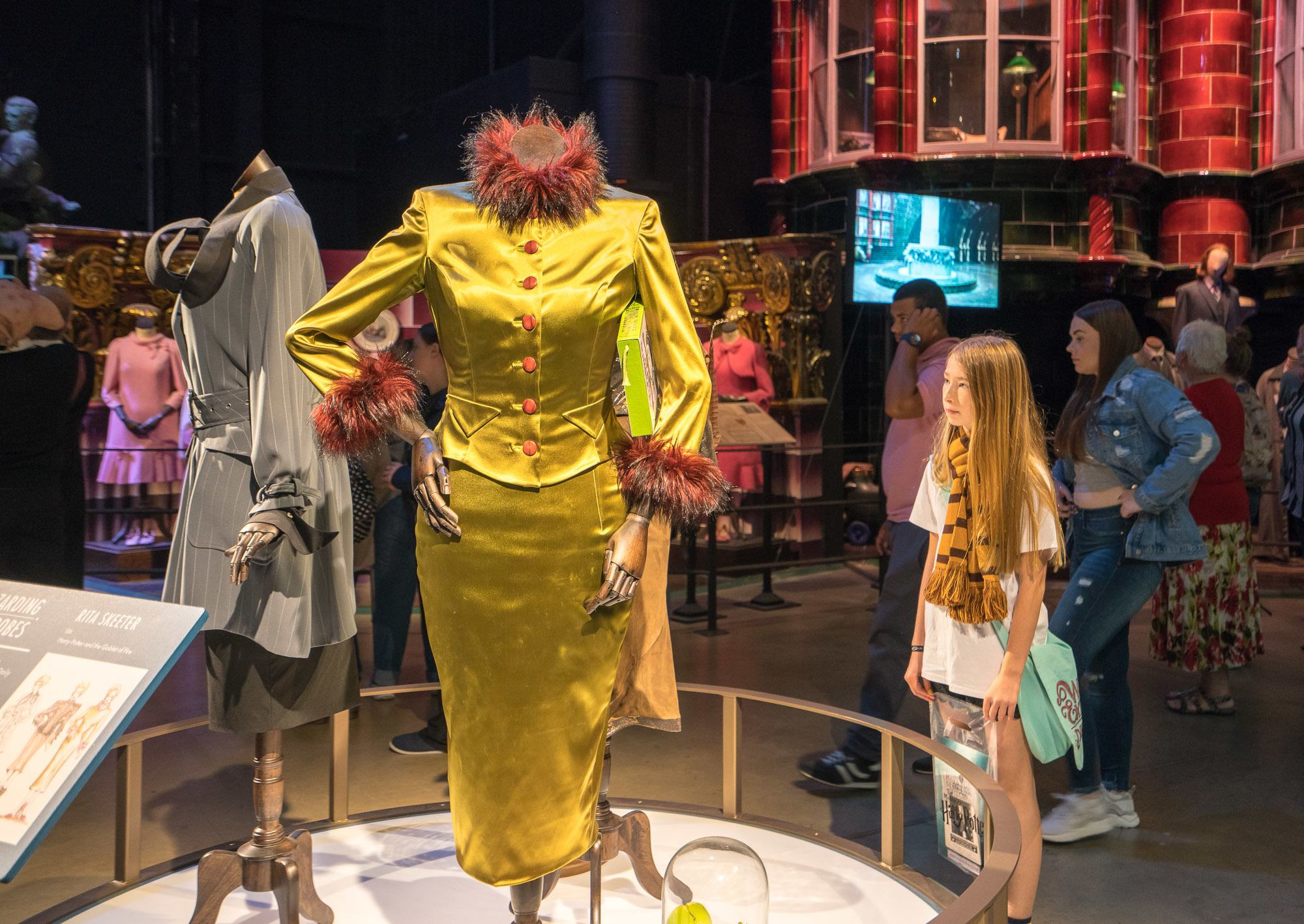 Rita Skeeter's elaborate costumes at Warner Bros. Studio Tour London.