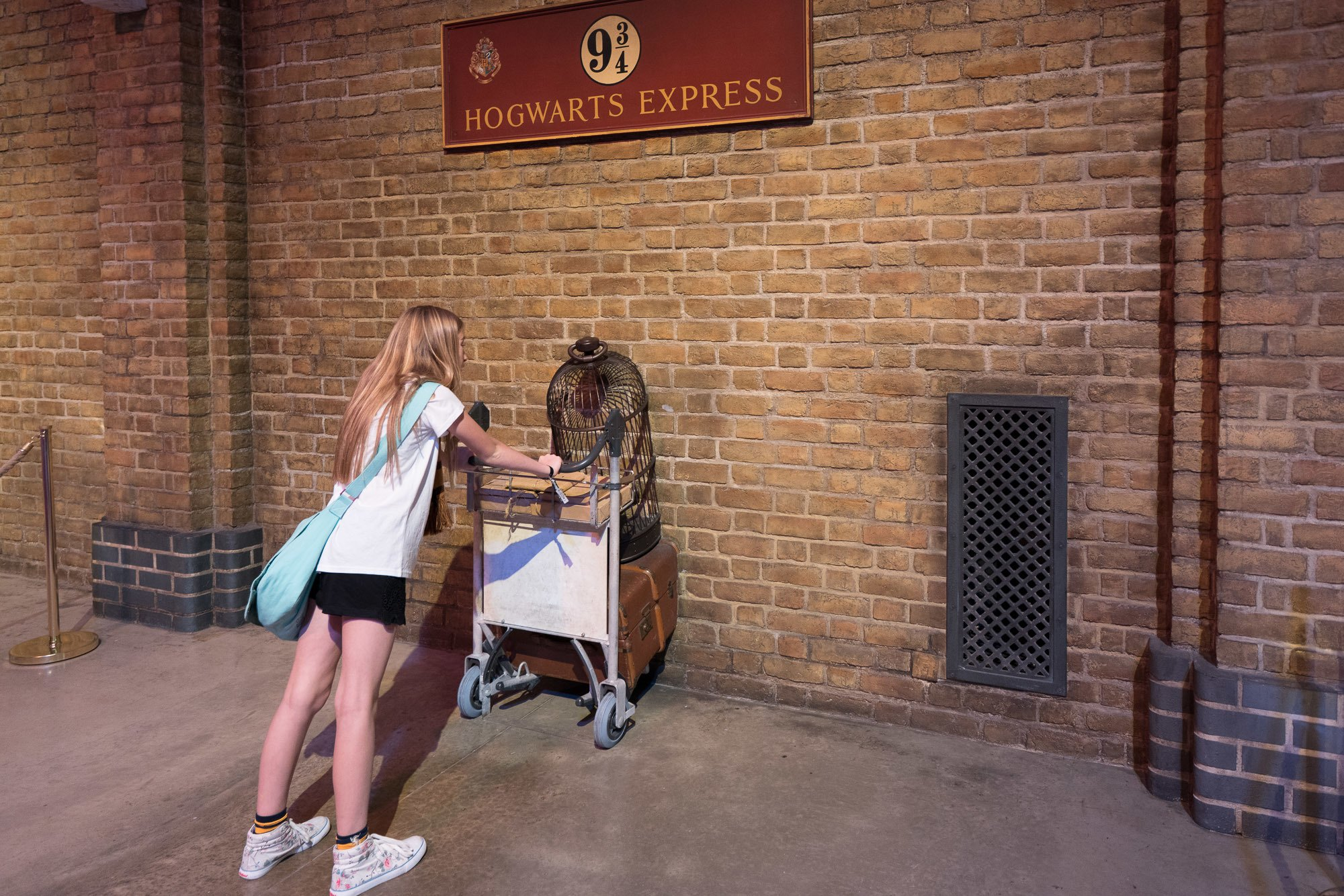 The infamous Platform 9 3/4 photo that Harry Potter fans love to take in London.