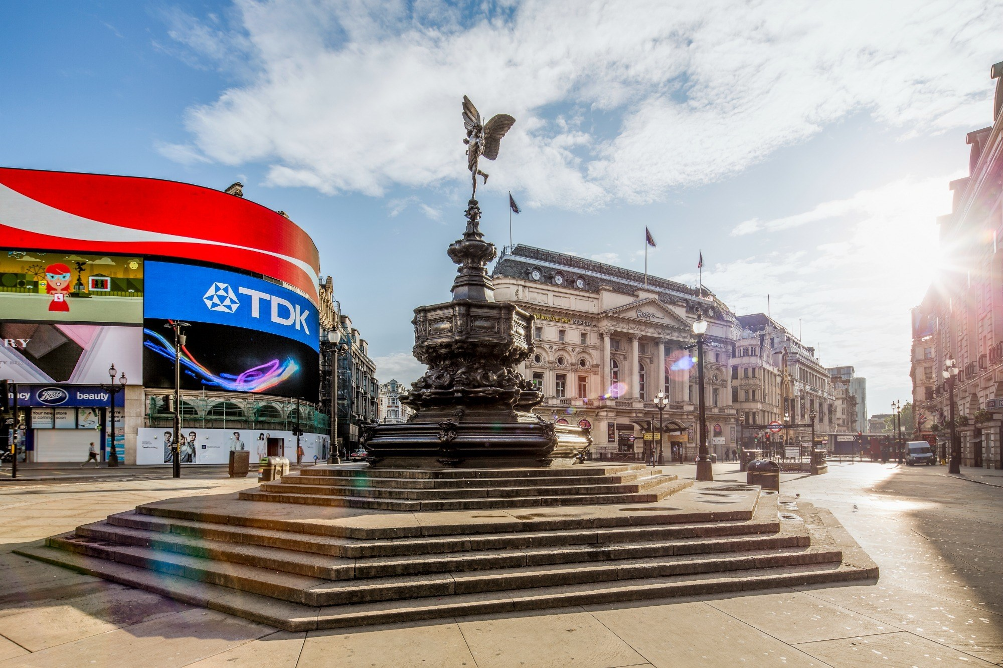 Piccadilly Circus in London appears in several Harry Potter movies.