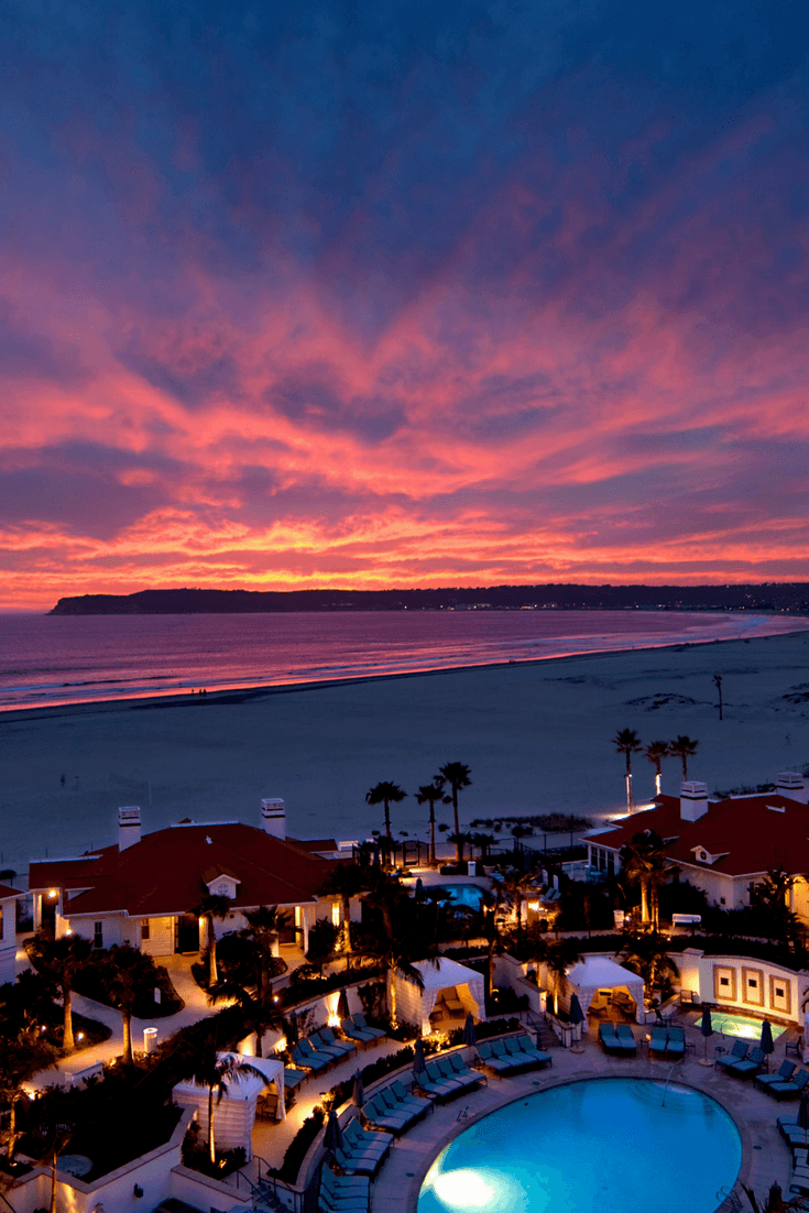 Beach Village at The Del is where to stay in San Diego for the most luxurious beach vacation.