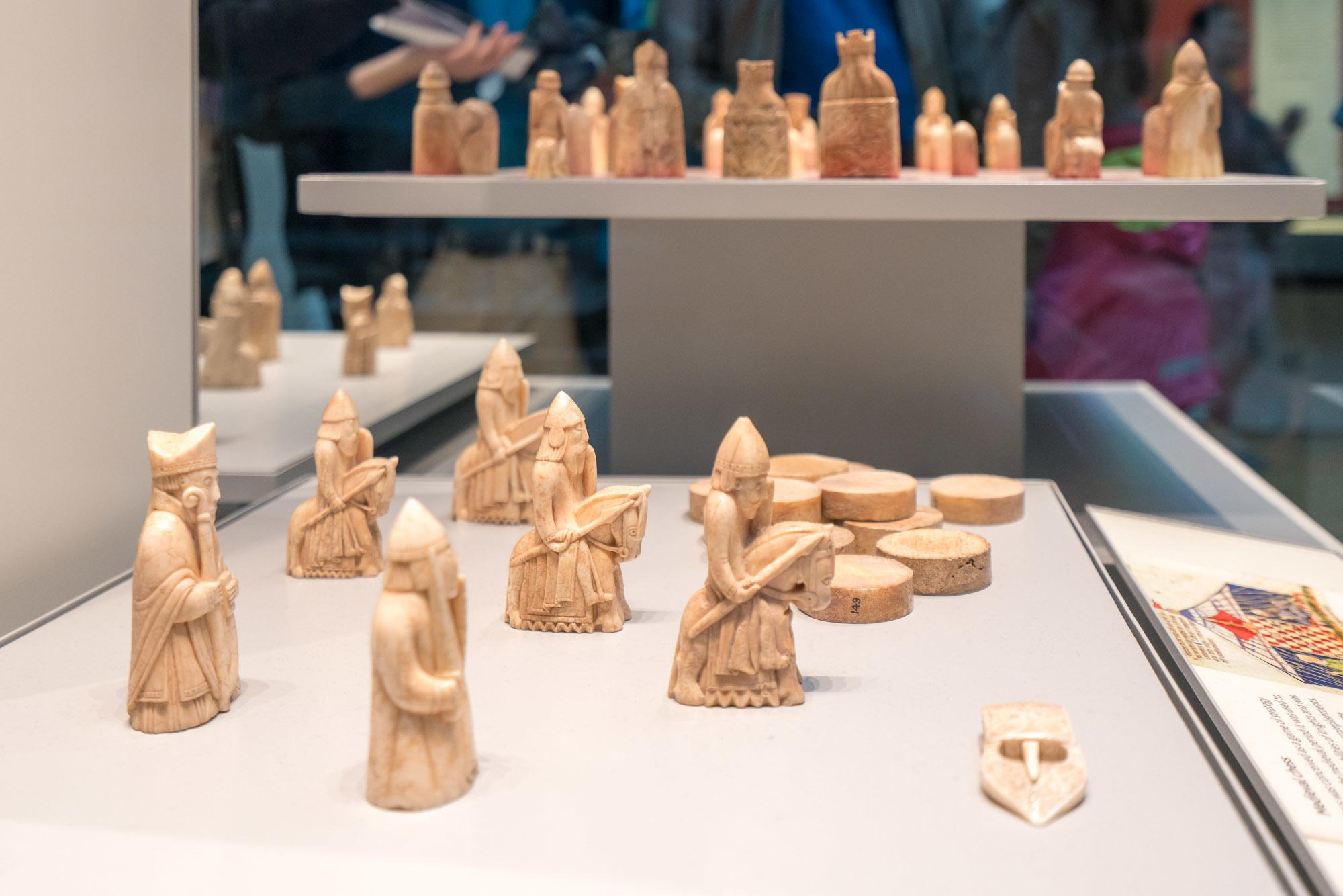 Kids will love the Lewis Chessmen at the British Museum, most famous chess sets in the world.
