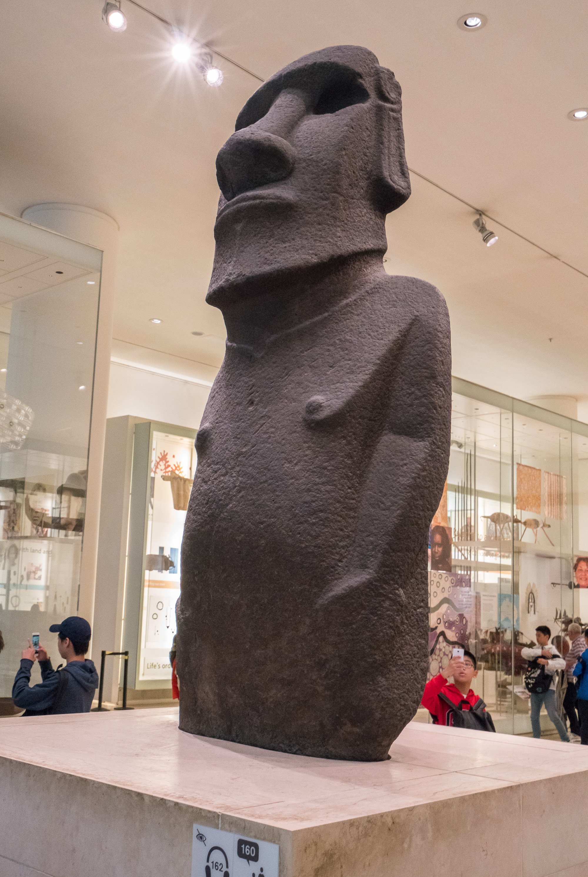 Kids love Hoa Hakananai'a (Easter Island moai) at the British Museum in London.