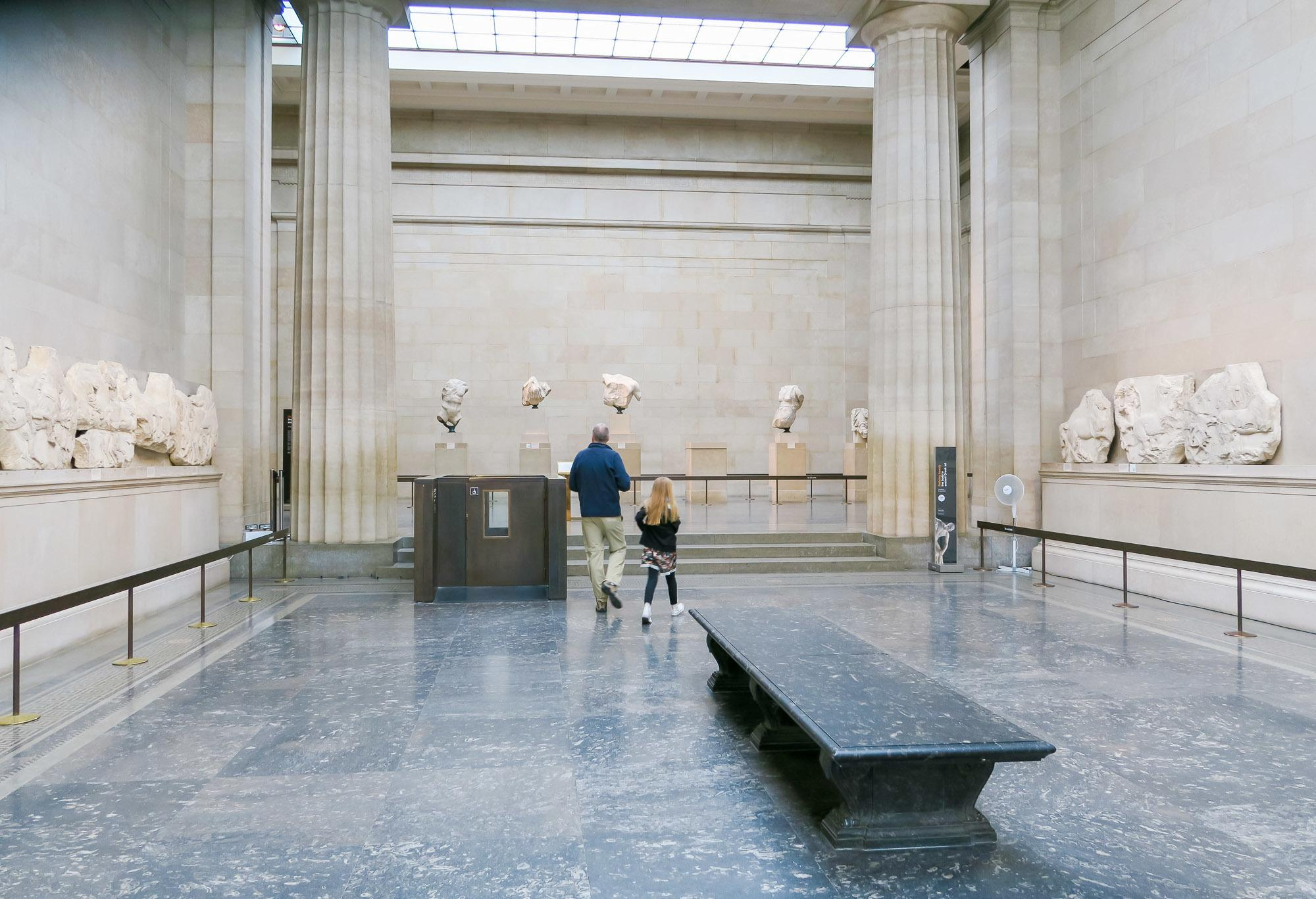 The Parthenon Sculptures (Elgin Marbles) is an exhibit you must see at the British Museum in London.