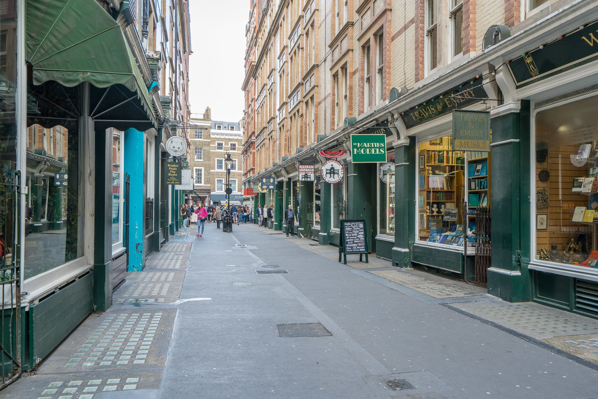Cecil Court in London is a pedestrian street lined with bookstores that is said to have inspired Harry Potter's Diagon Alley.