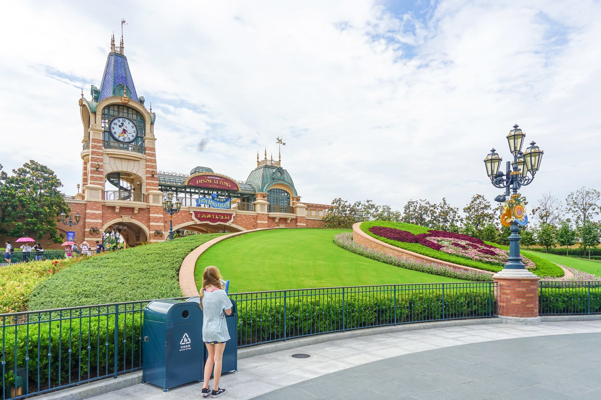 The entrance to Shanghai Disneyland in China.
