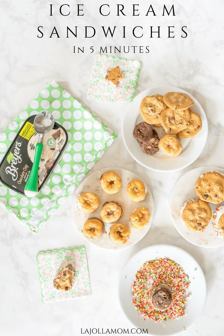 With three store-bought ingredients the kids can DIY their own ice cream sandwiches in a few minutes. There's no limit to what you can use for a top or bottom (donuts, brownies, cookies and more).