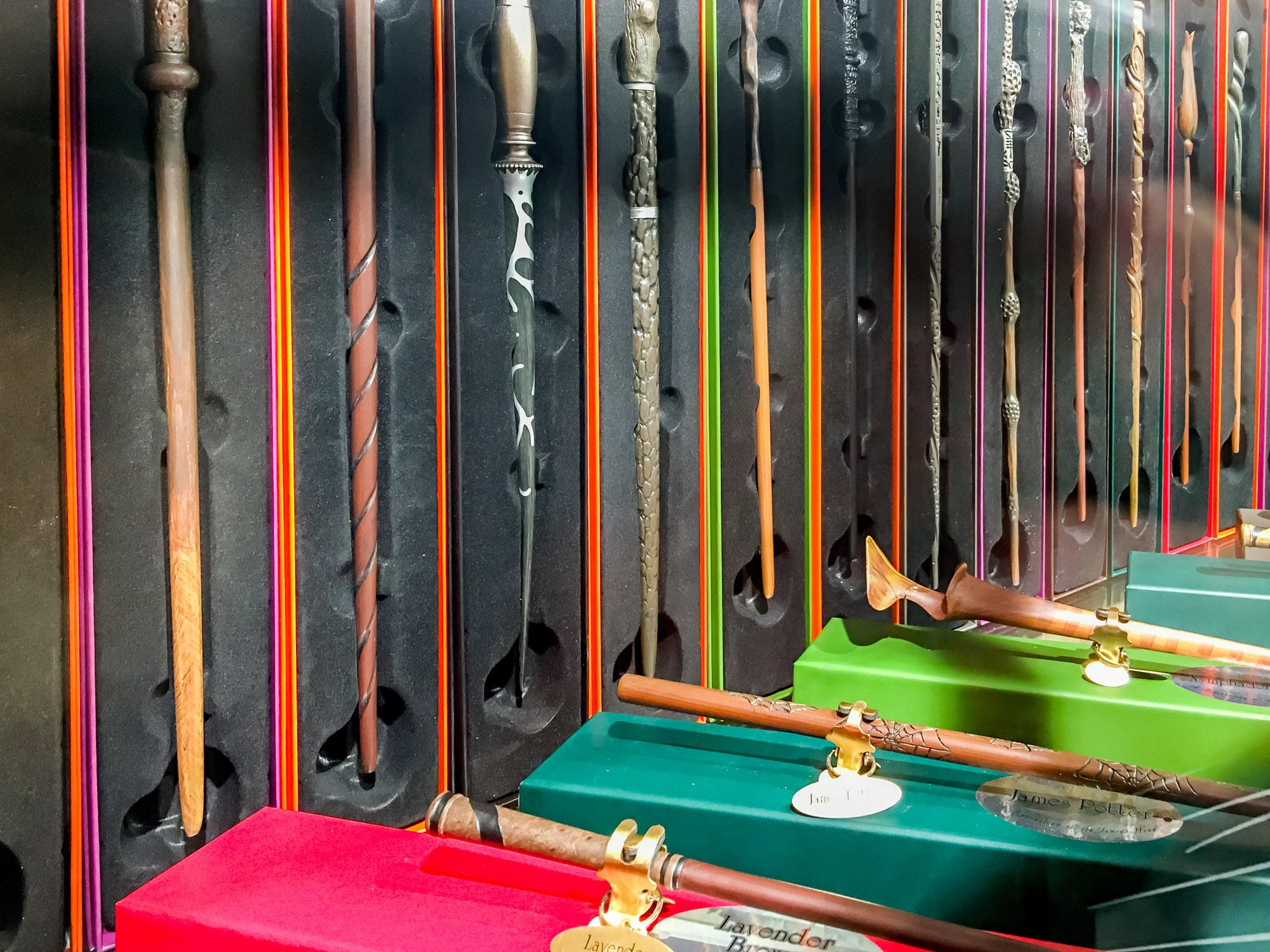 Harry Potter wands are sold at Hamley's toy store on Regent Street in London.
