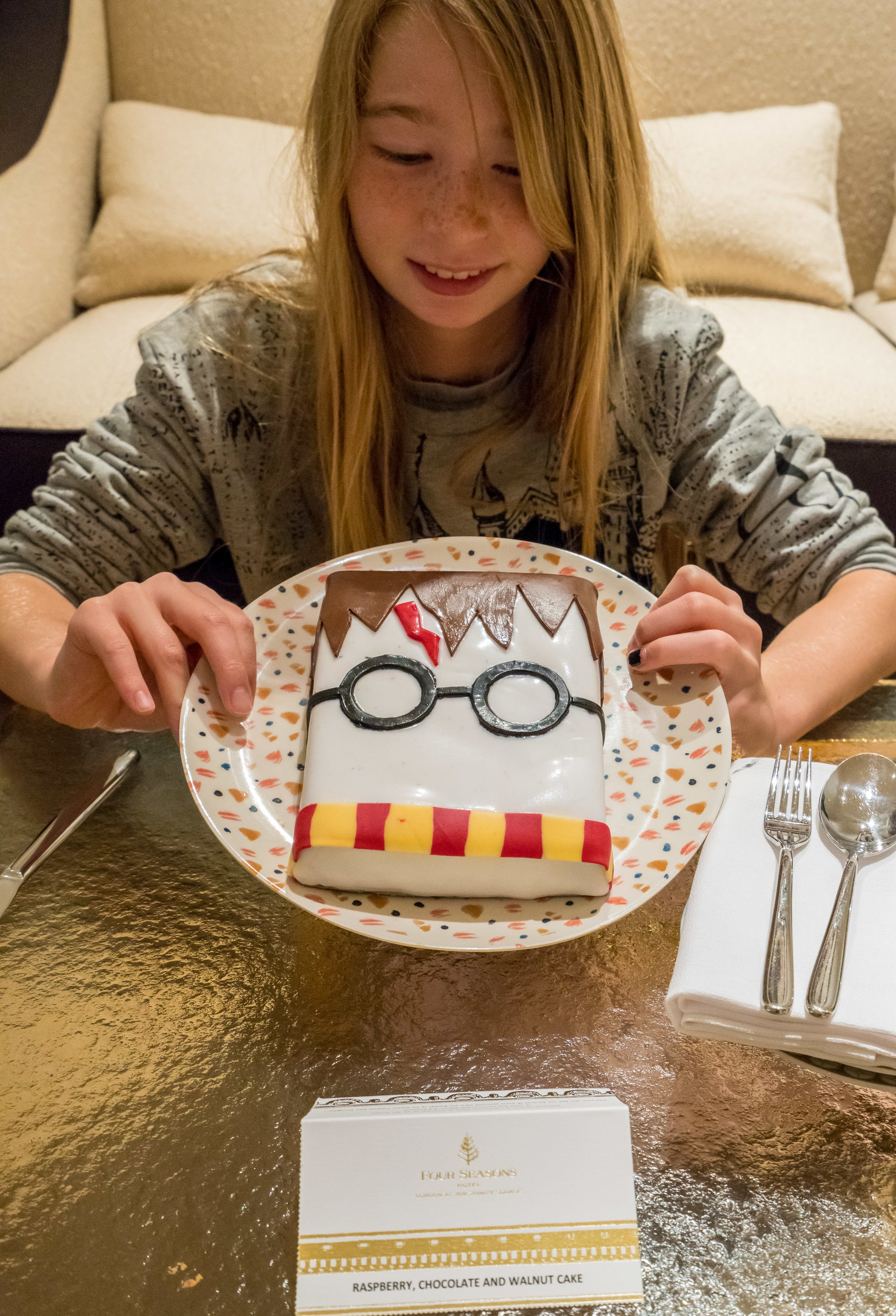 An amazing Harry Potter cake made by Four Seasons Hotel London at Ten Trinity Square.