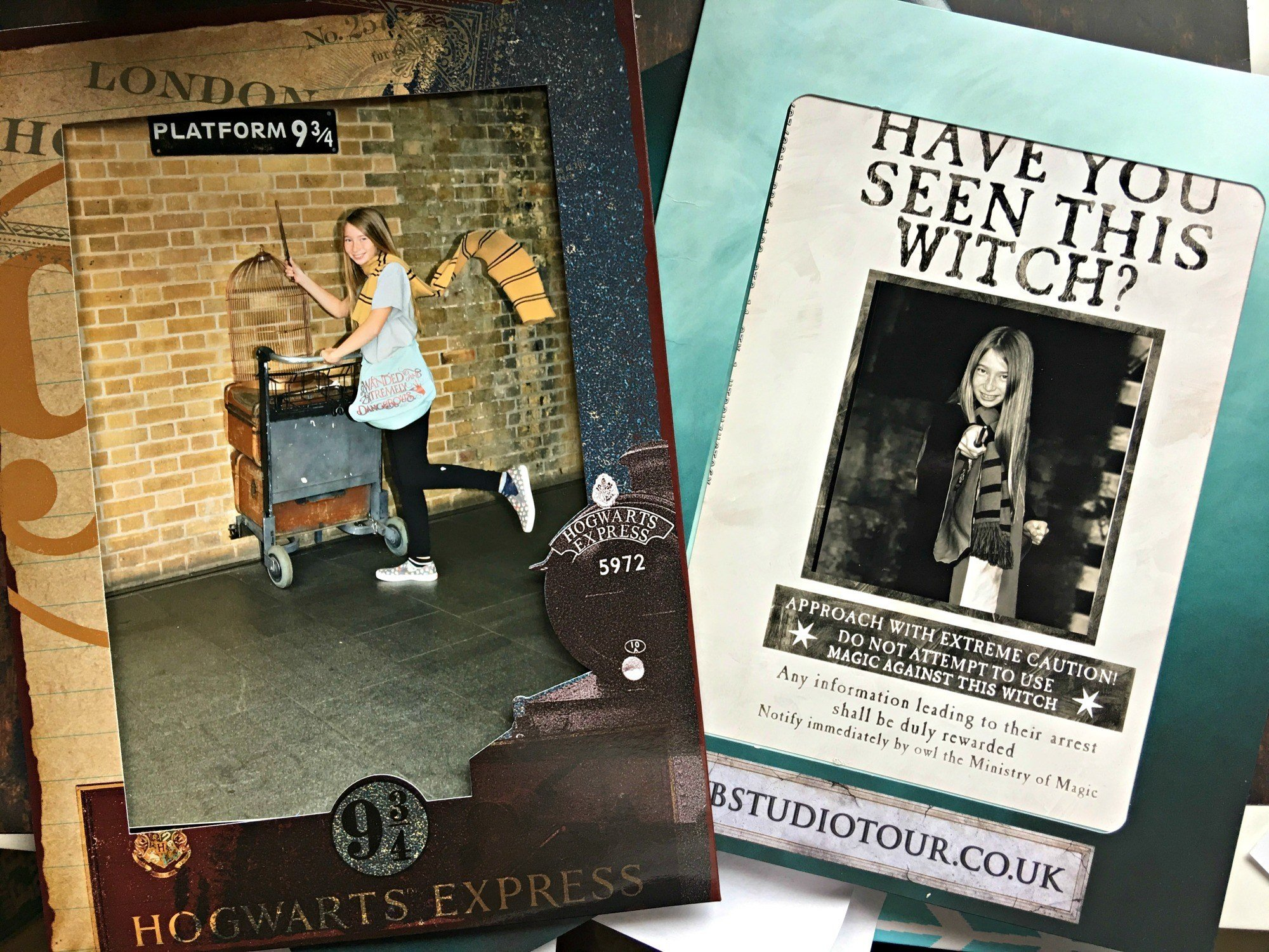 Souvenir photos from a Harry Potter London vacation.
