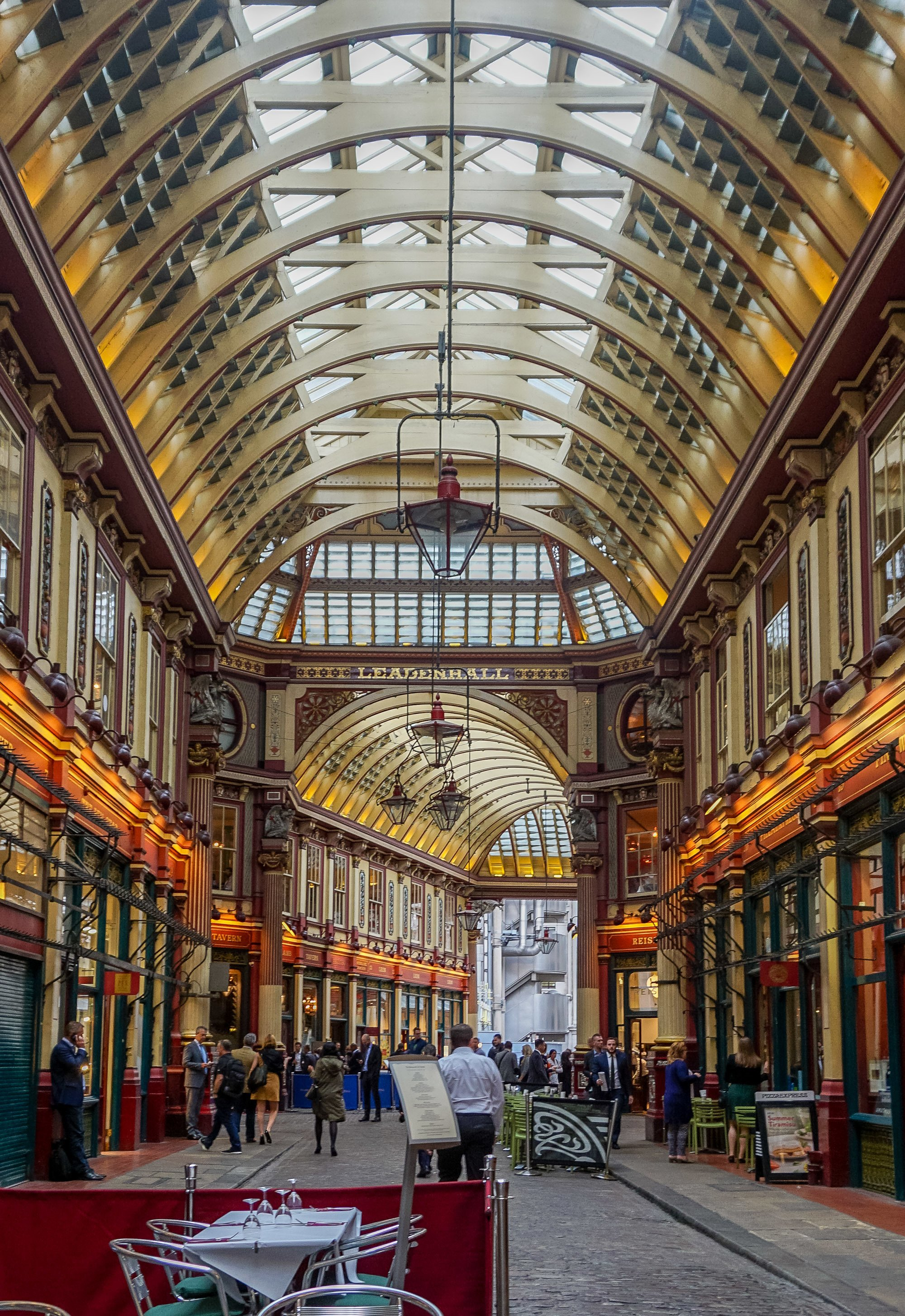 Leadenhall Market is a place to visit on a Harry Potter London tour. The entrance to the Leaky Cauldron is an optician's shop on the side of the market.