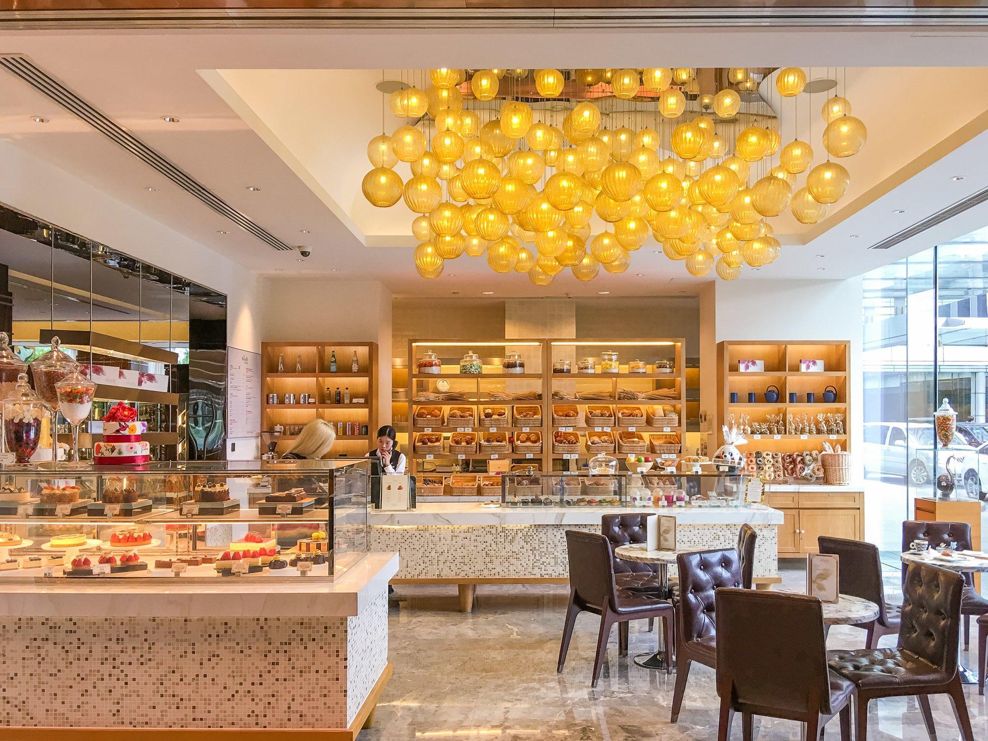 The gorgeous and delicious Mandarin Oriental Shanghai Cake Shop.