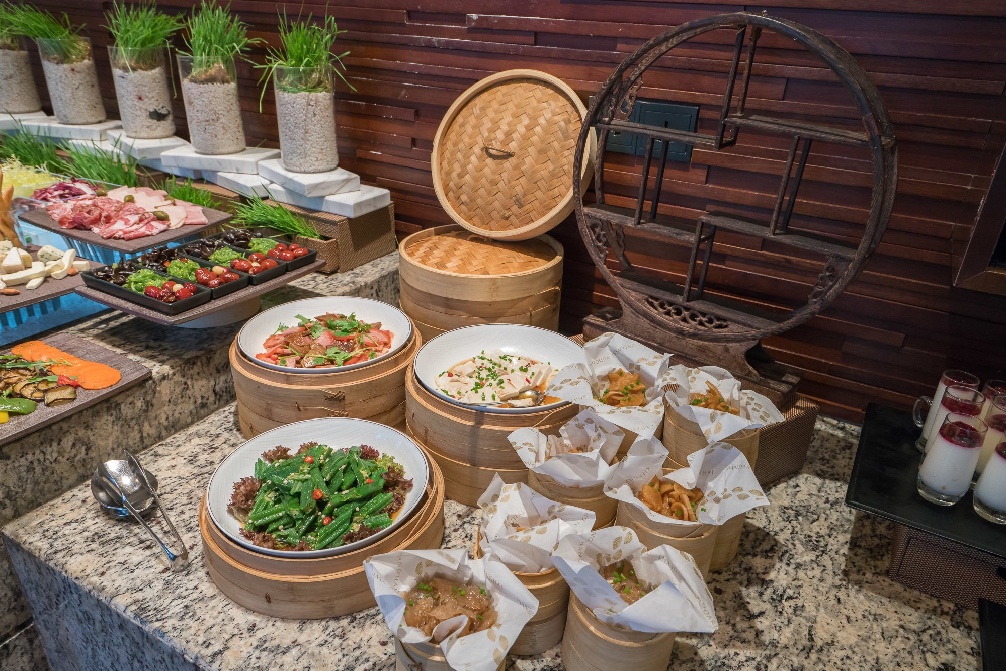 Delicious regional dishes expertly presented at the Club Lounge inside Mandarin Oriental Pudong, Shanghai.