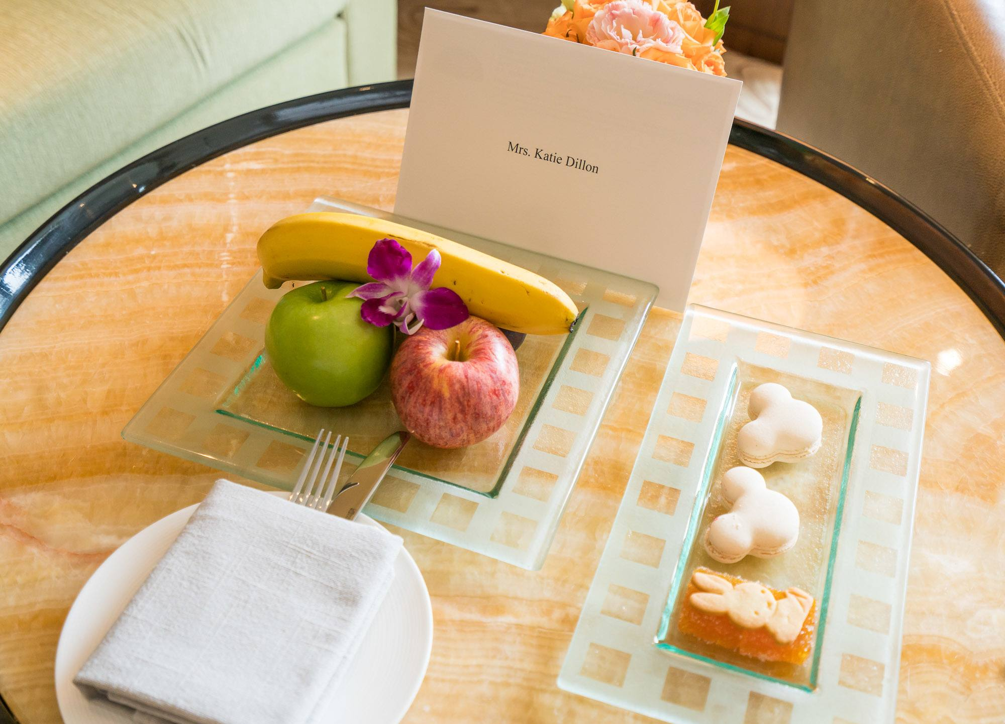 Our welcome amenity at Mandarin Oriental Pudong, Shanghai.