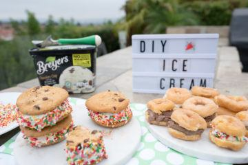 Easy ice cream sandwiches the kids can make themselves.