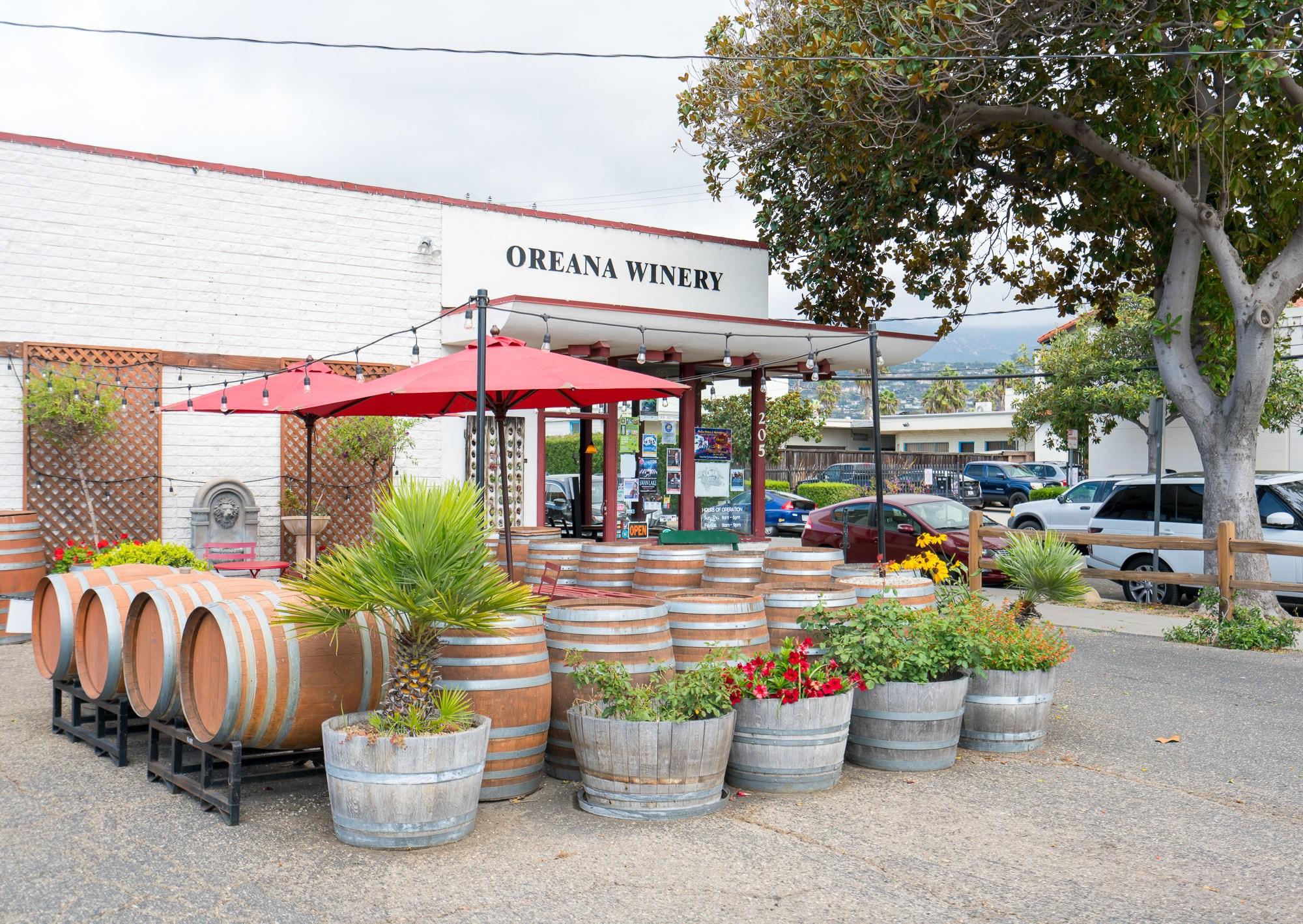 Oreana Winery has a tasting room in Santa Barbara's Funk Zone.