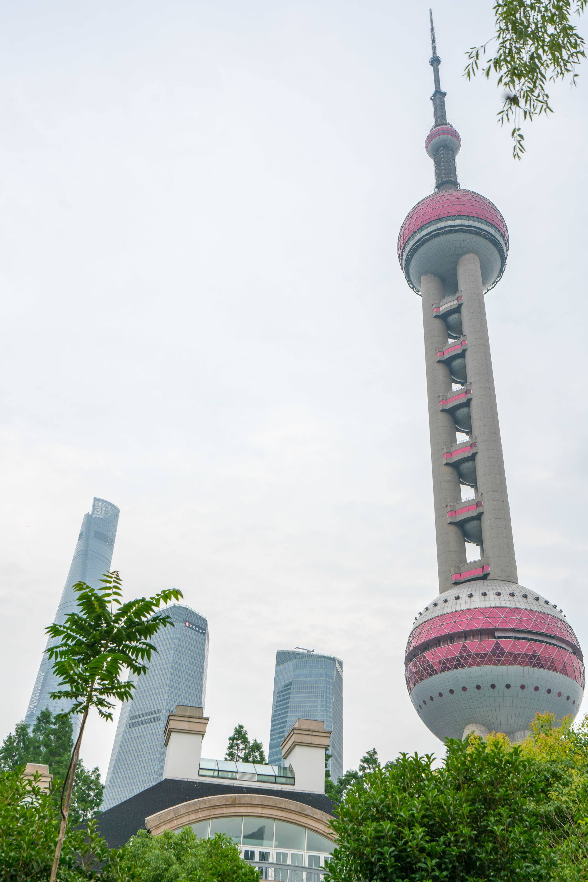 The Oriental Pearl Tower is close to Mandarin Oriental Pudong, Shanghai.