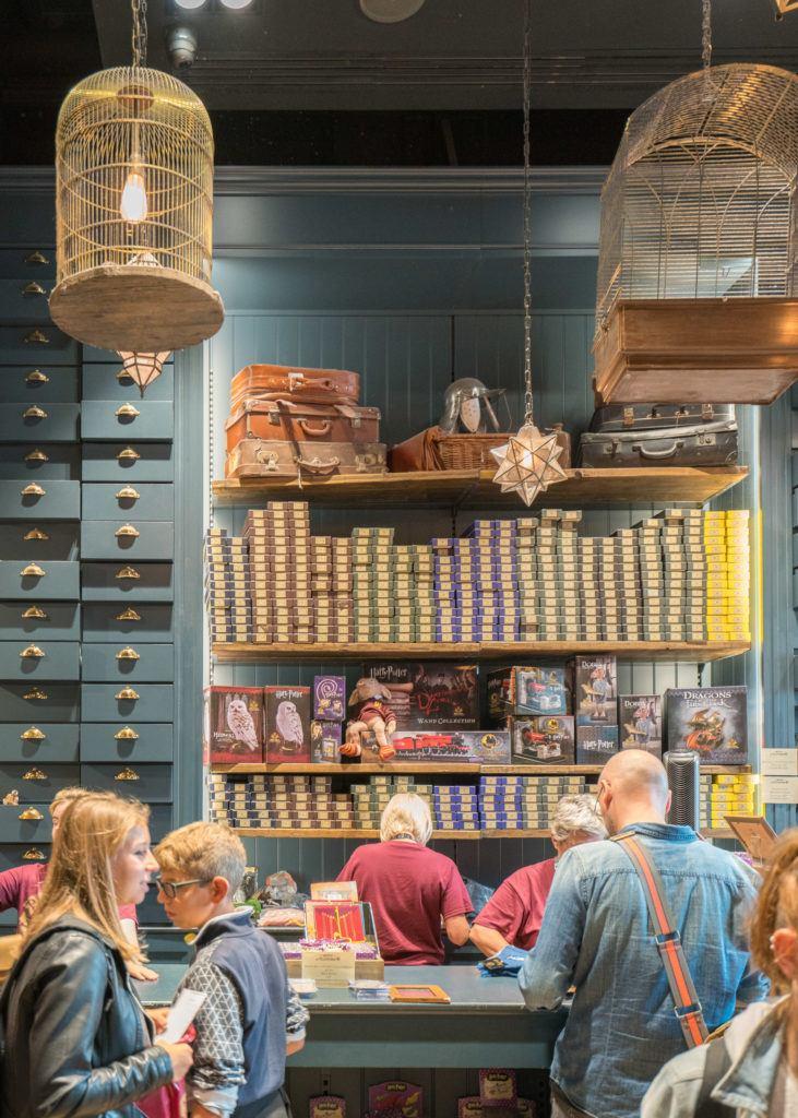 The Platform 9 3/4 Shop at Kings Cross station is a must-visit for Harry Potter fans.