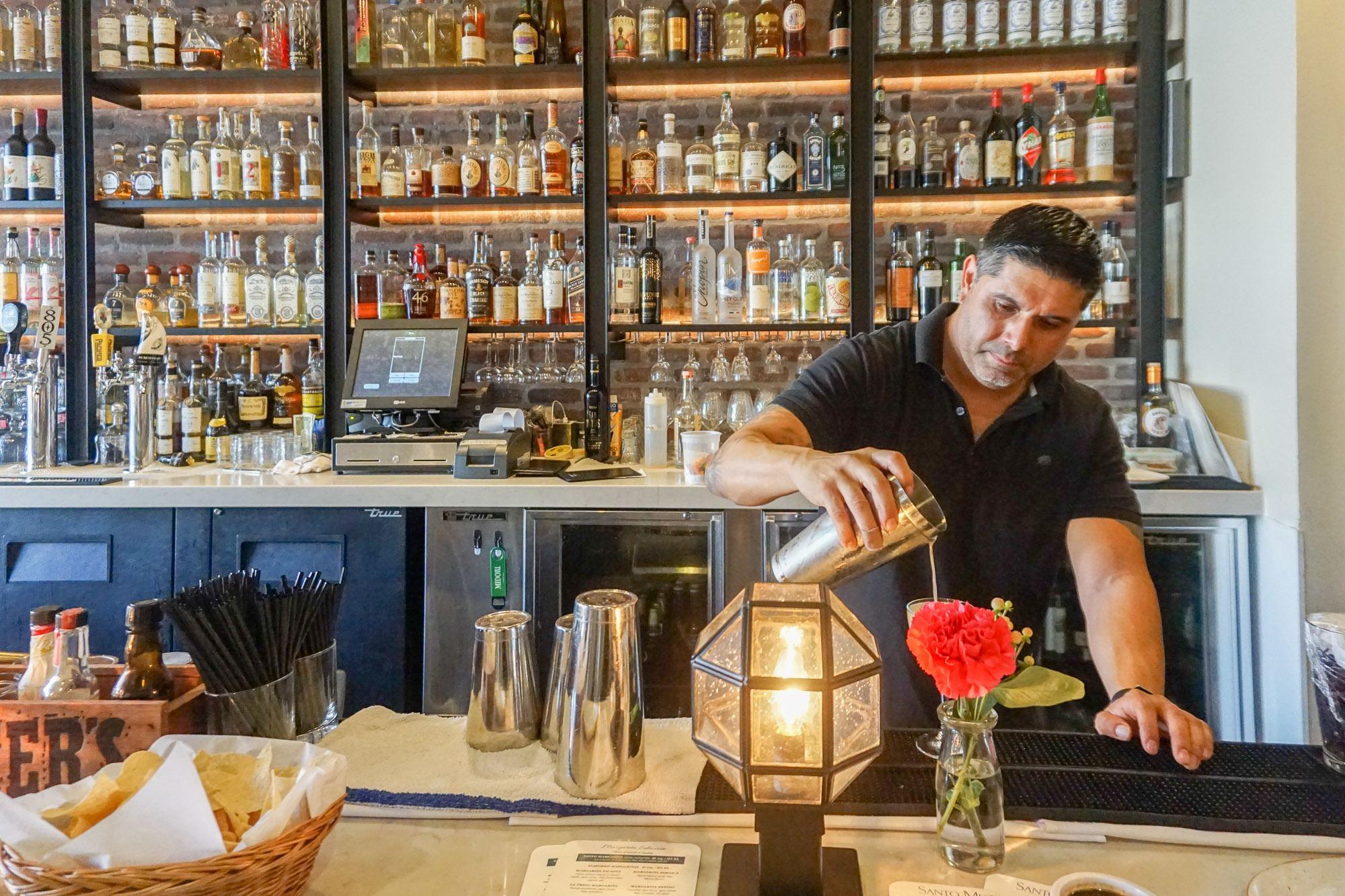 Santo Mescal at Hotel Indigo Santa Barbara has great drinks in its gorgeous bar area.