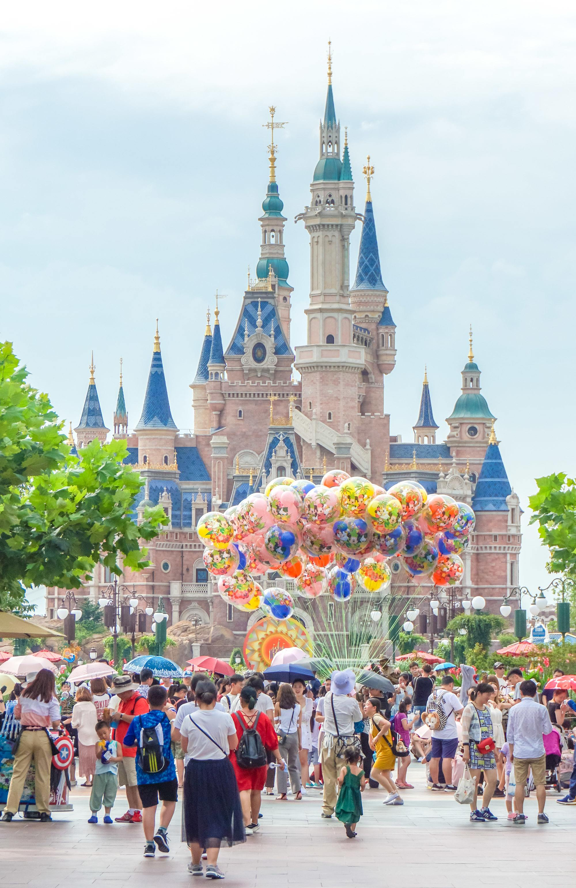 The Shanghai Disneyland castle is called the Enchanted Storybook Castle and is the largest of any Disney park.