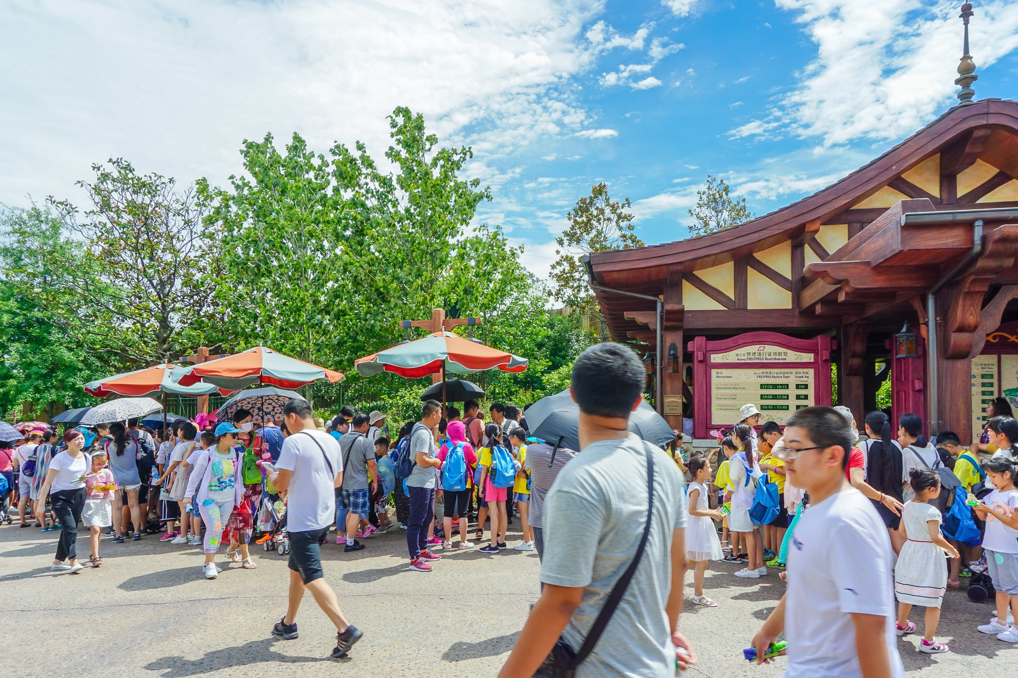 The FastPass lines at Shanghai Disneyland are incredibly long.