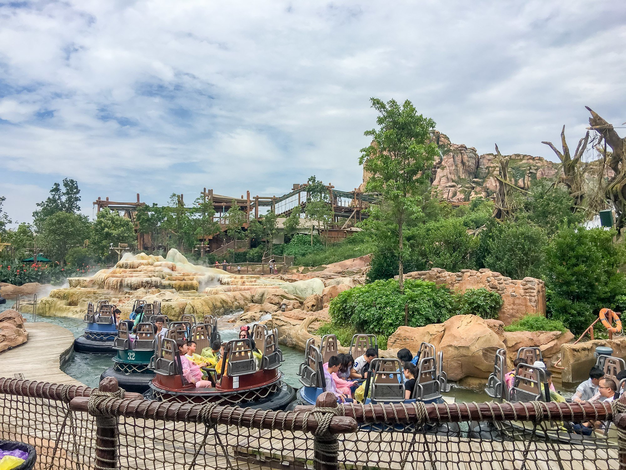 The Roaring Rapids ride at Shanghai Disneyland keeps guests cool in summer.