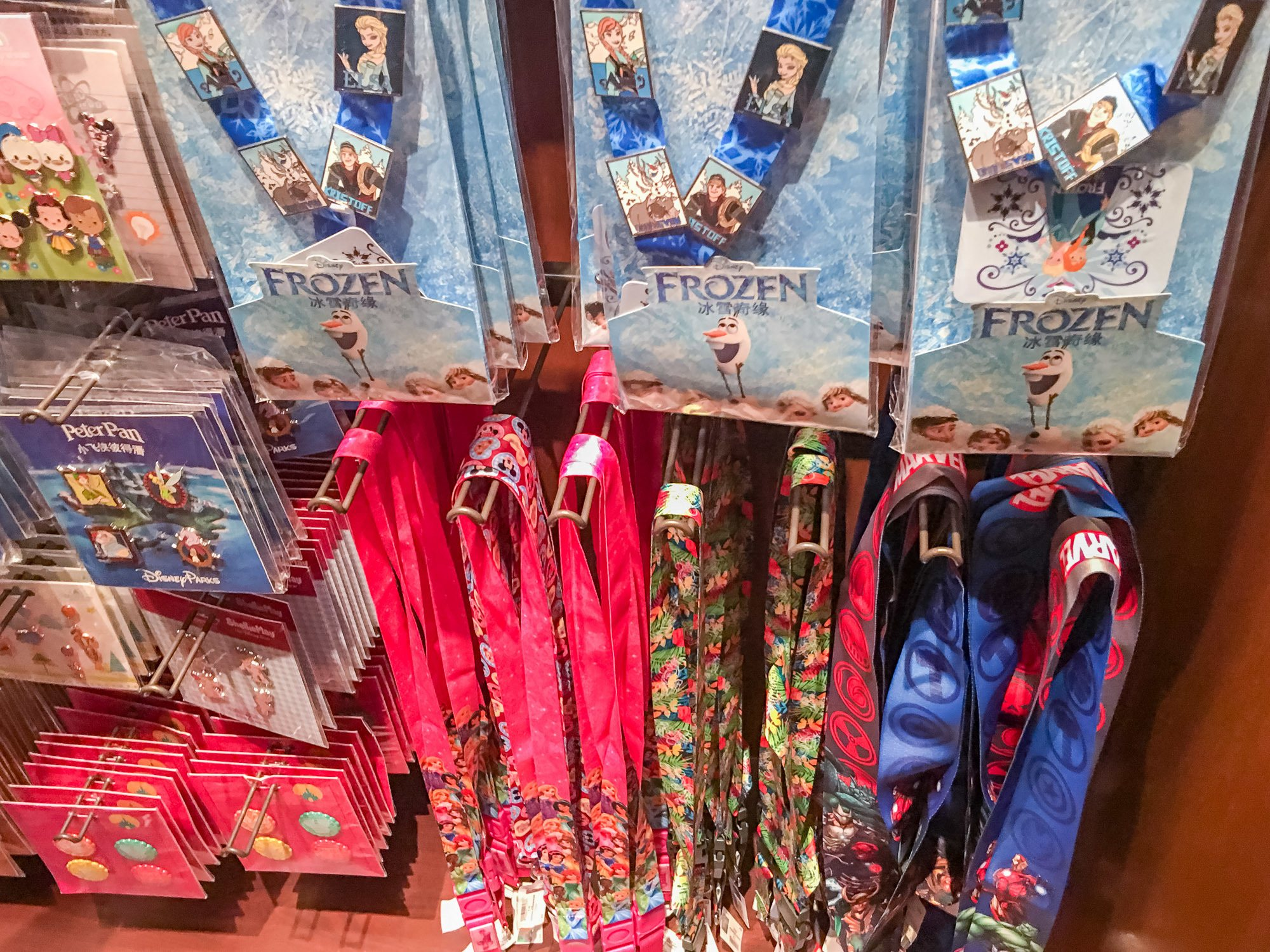 Lanyards are a good idea for holding your FastPasses and paper ticket at Shanghai Disneyland.