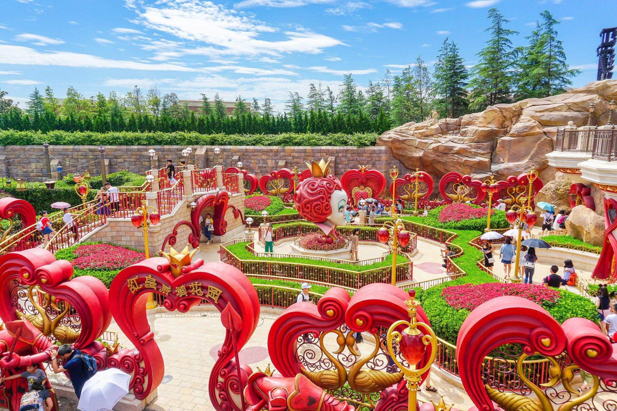 Alice in Wonderland Maze in Fantasyland at Shanghai Disneyland
