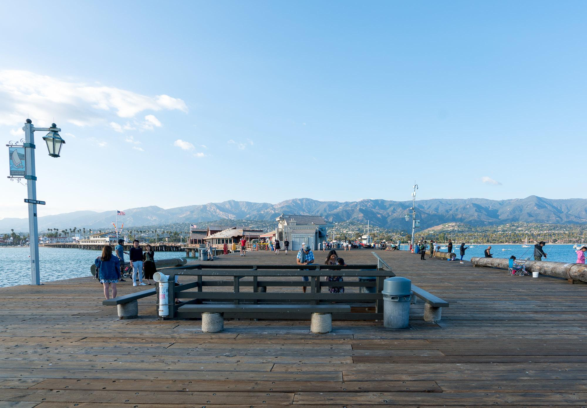 Stearns Wharf is Santa Barbara's top attraction.