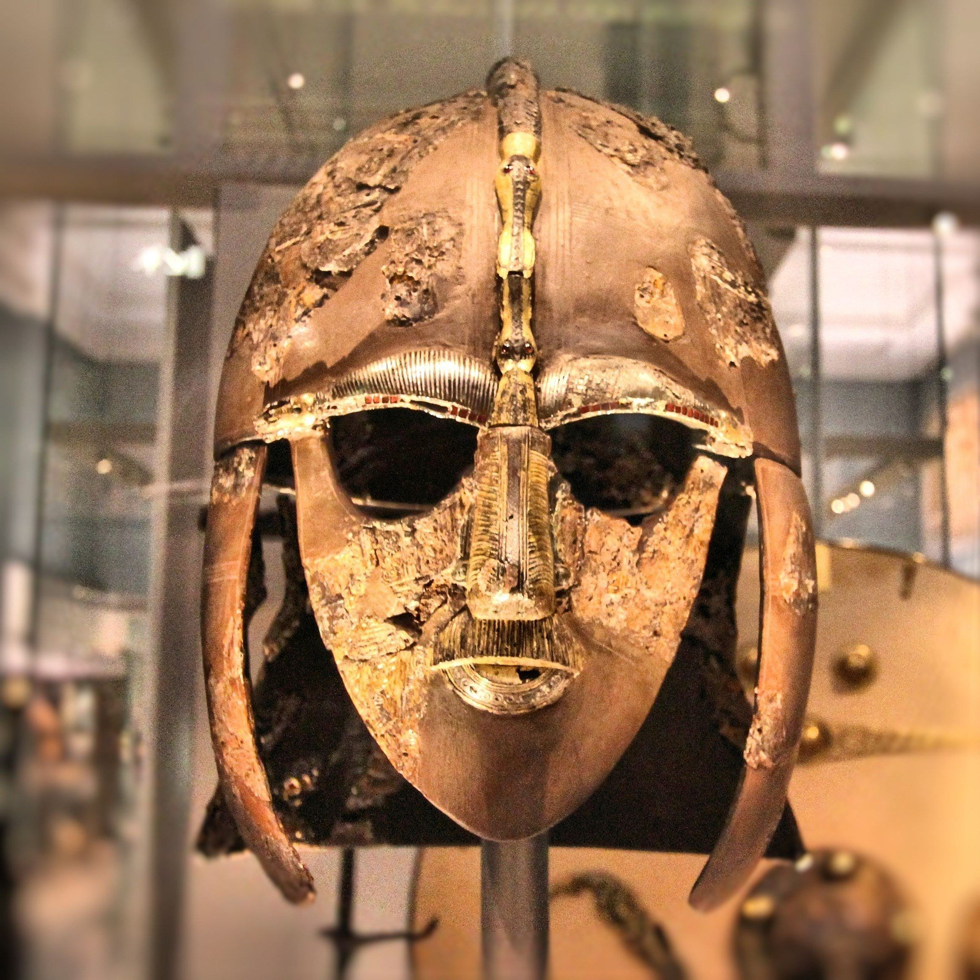 The Sutton Hoo helmet is one of the most famous artifacts in the British Museum.