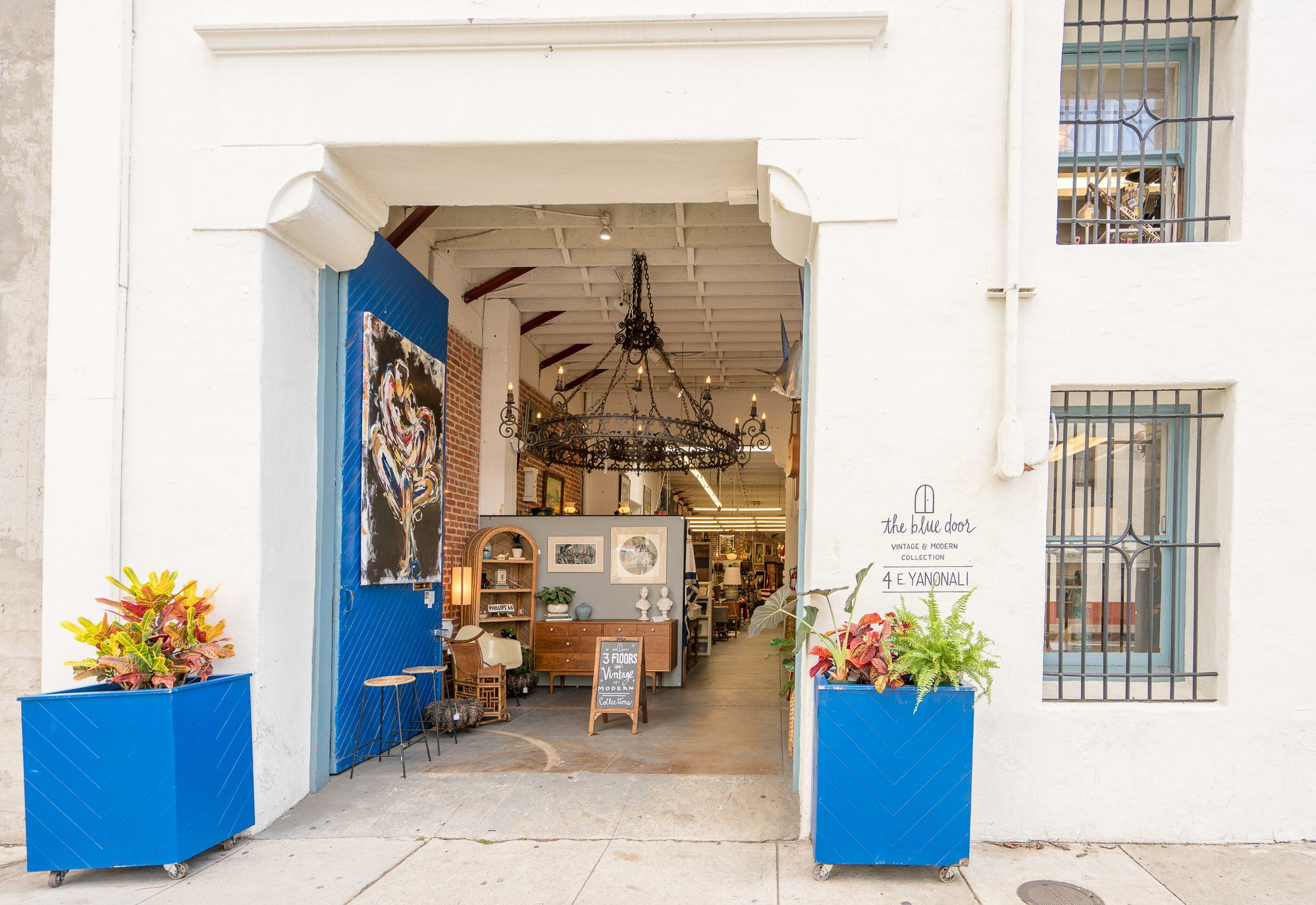 The Blue Door is one of the best shops in Santa Barbara's Funk Zone for its Mid Century Modern decor.