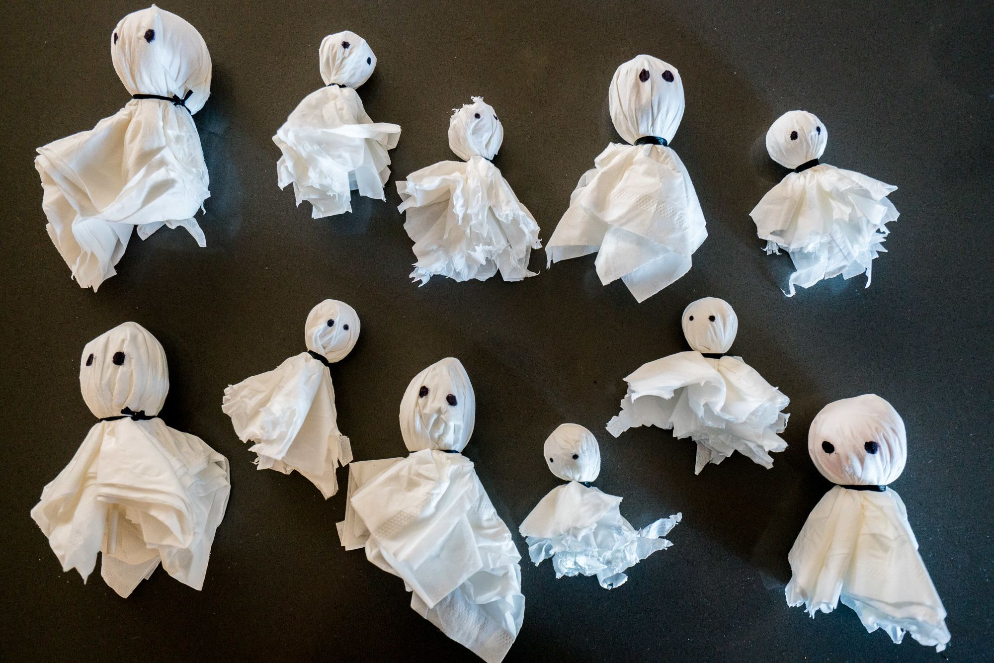 Wrap toys and lollipops up like little ghosts. Place them around the house or backyard and let the kids hunt for them.