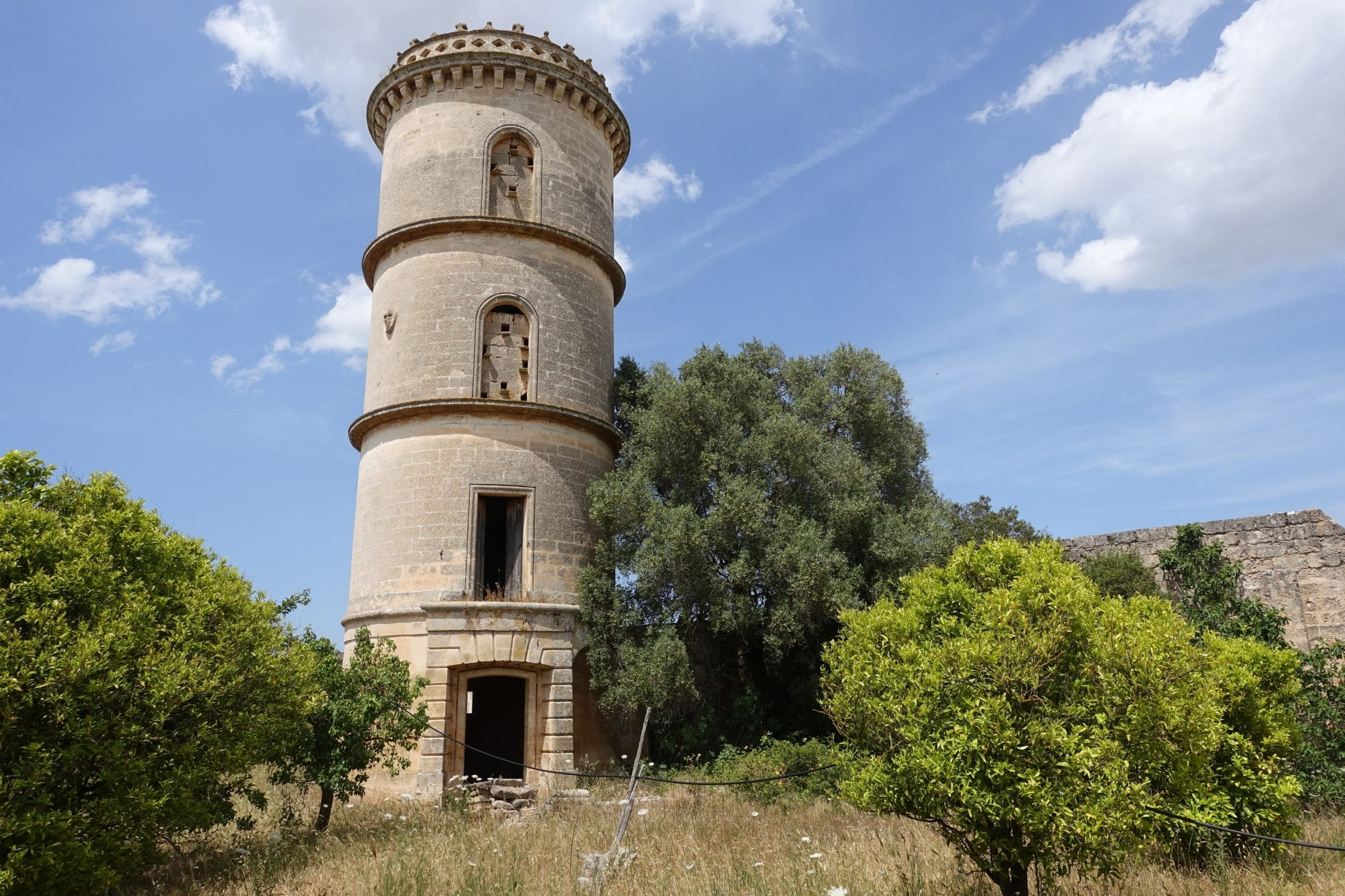 The water tower at a historic villa in Puglia that Amberlair will turn into the region's first luxury boutique hotel.