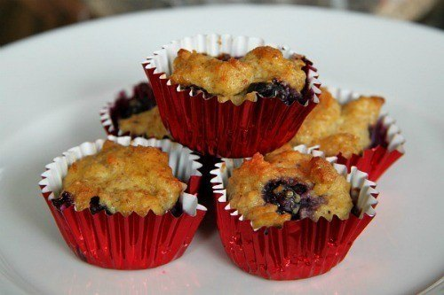 Antioxidant-rich Blueberry Mini Muffins (For Dogs and People)