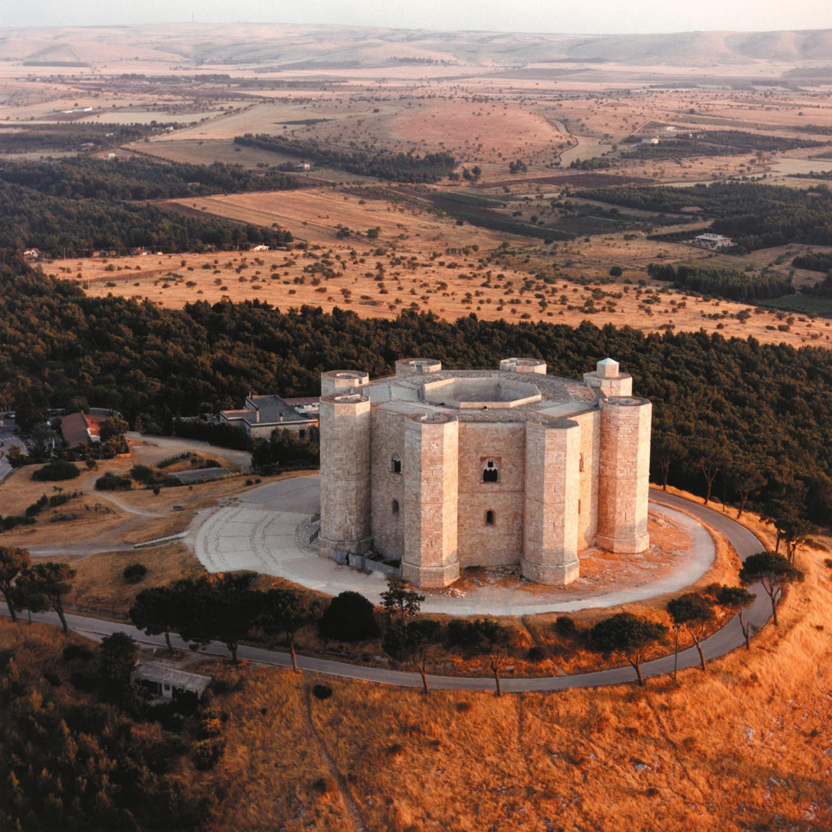 Castel Del Monte is a UNESCO World Heritage site in Puglia, Italy.