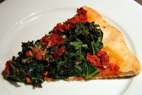 Kale, Chorizo, and Manchego Pizza Recipe