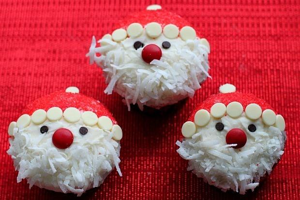 Easy Santa Claus Cupcakes