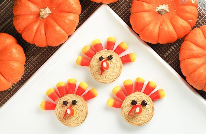 Crazy Easy Thanksgiving Turkey Cookies