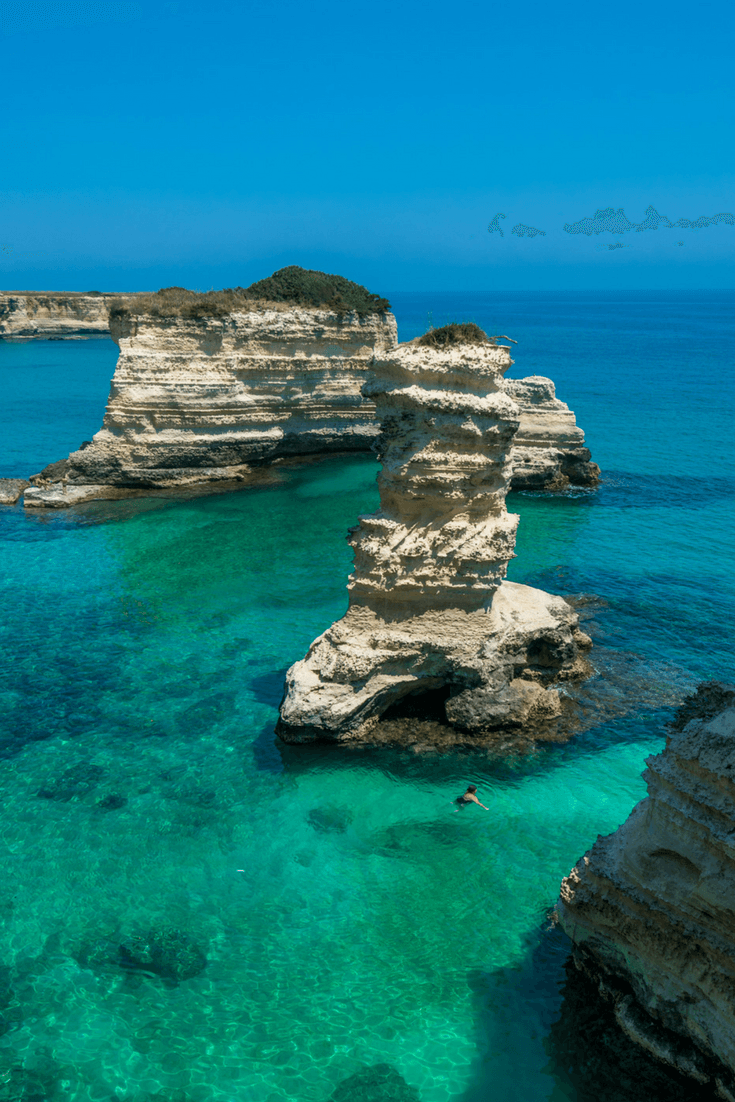 Puglia, Italy is famous for its gorgeous beaches.