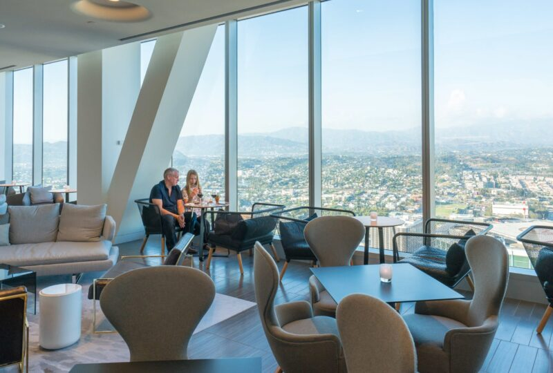 View from the Club Lounge at InterContinental Downtown Los Angeles, my favorite luxury hotel in DTLA.