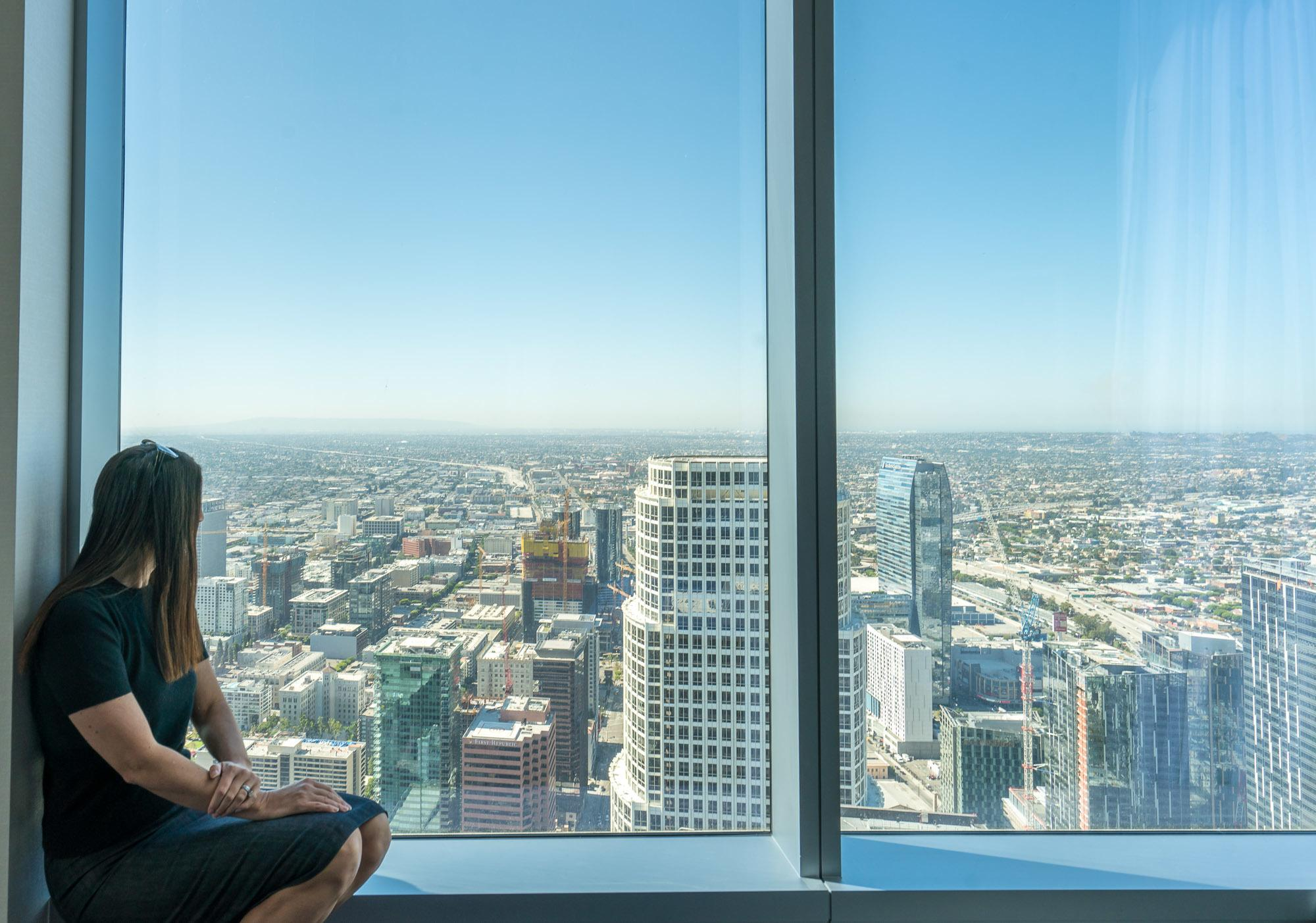 The views from InterContinental Los Angeles Downtown span for miles to the coast and beyond.
