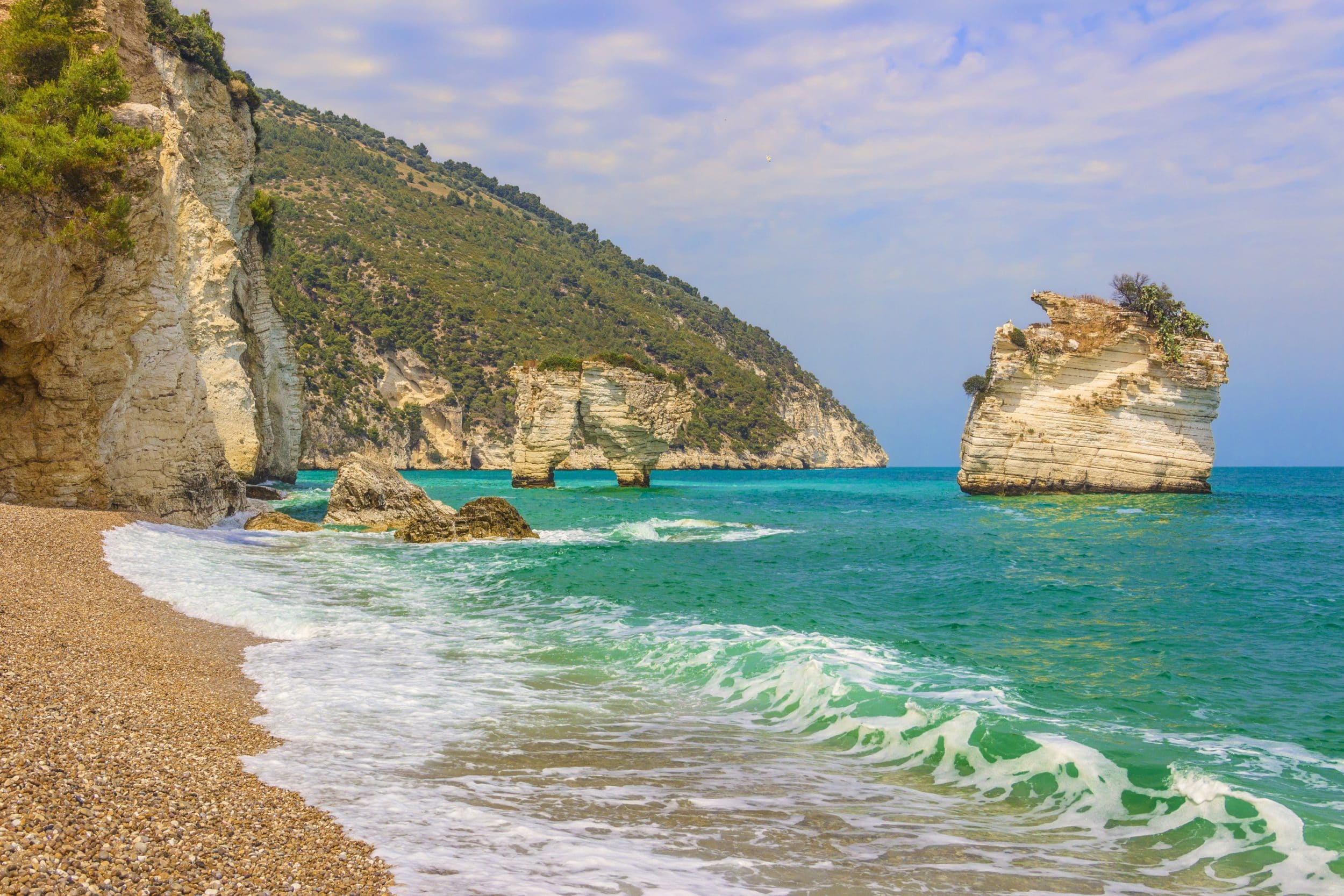 Breathtaking views from the beaches of Puglia, Italy.