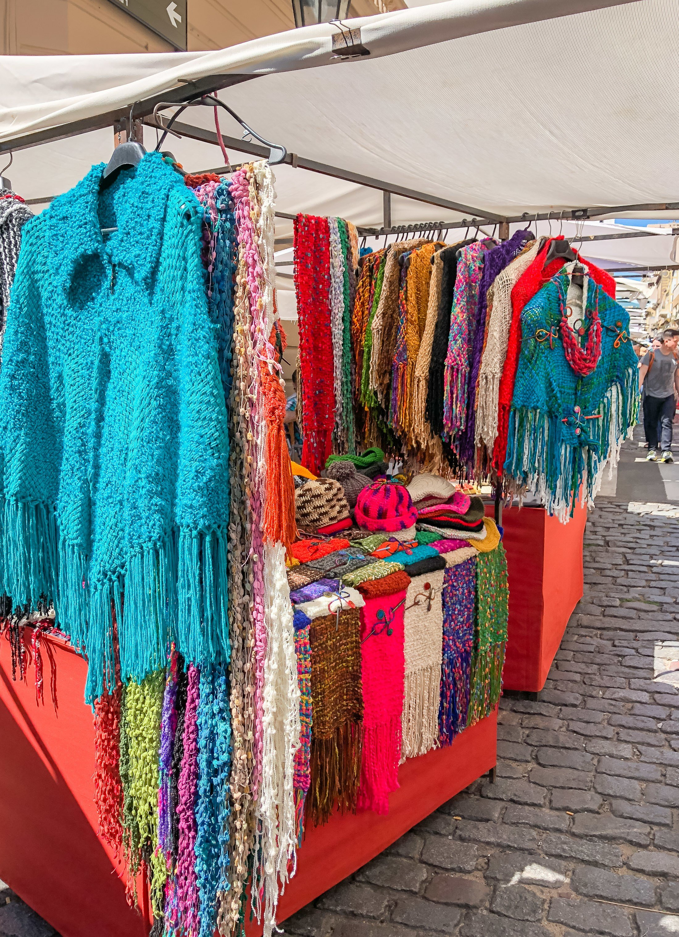 Hand-knit sweaters at the San Telmo Fair in Buenos Aires.