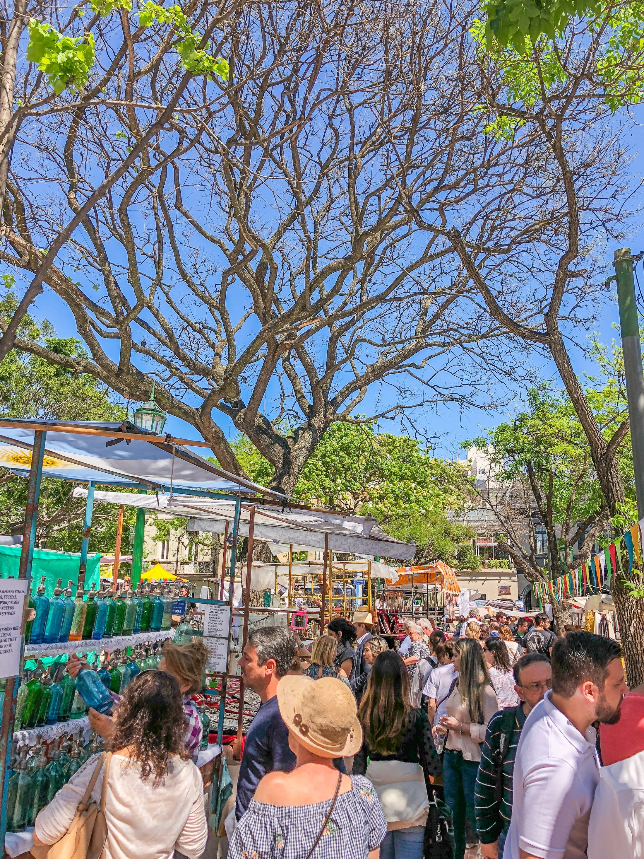 One of the best things to do in Buenos Aires is visit the San Telmo Fair on Sundays.