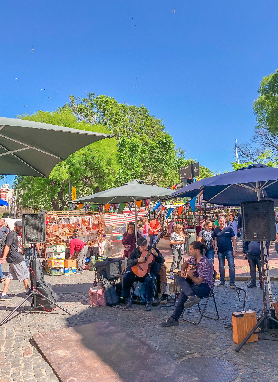Live music at the San Telmo Fair in Buenos Aires, Argentina.